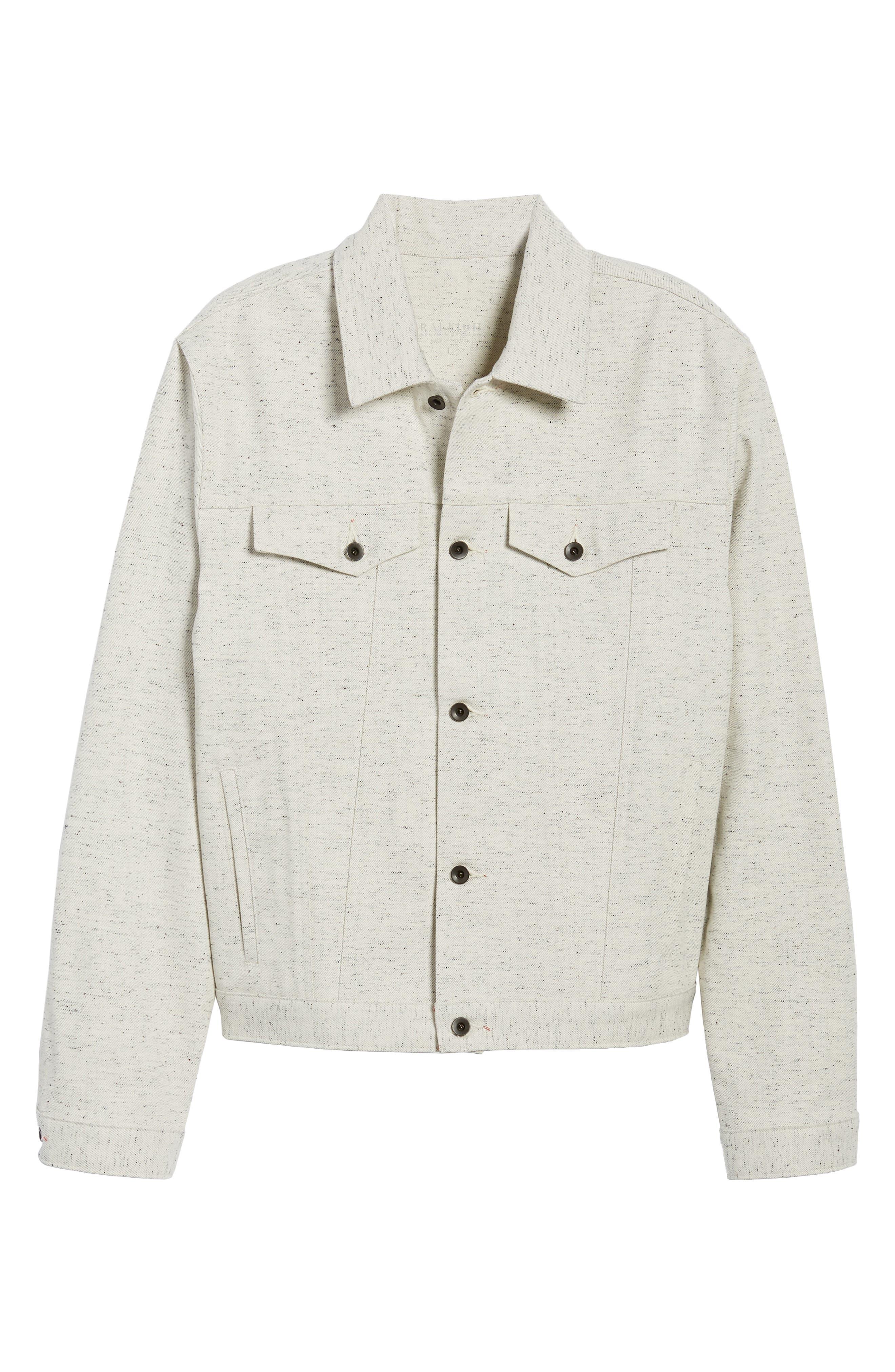 Natural Denim Jacket,                             Alternate thumbnail 5, color,                             123