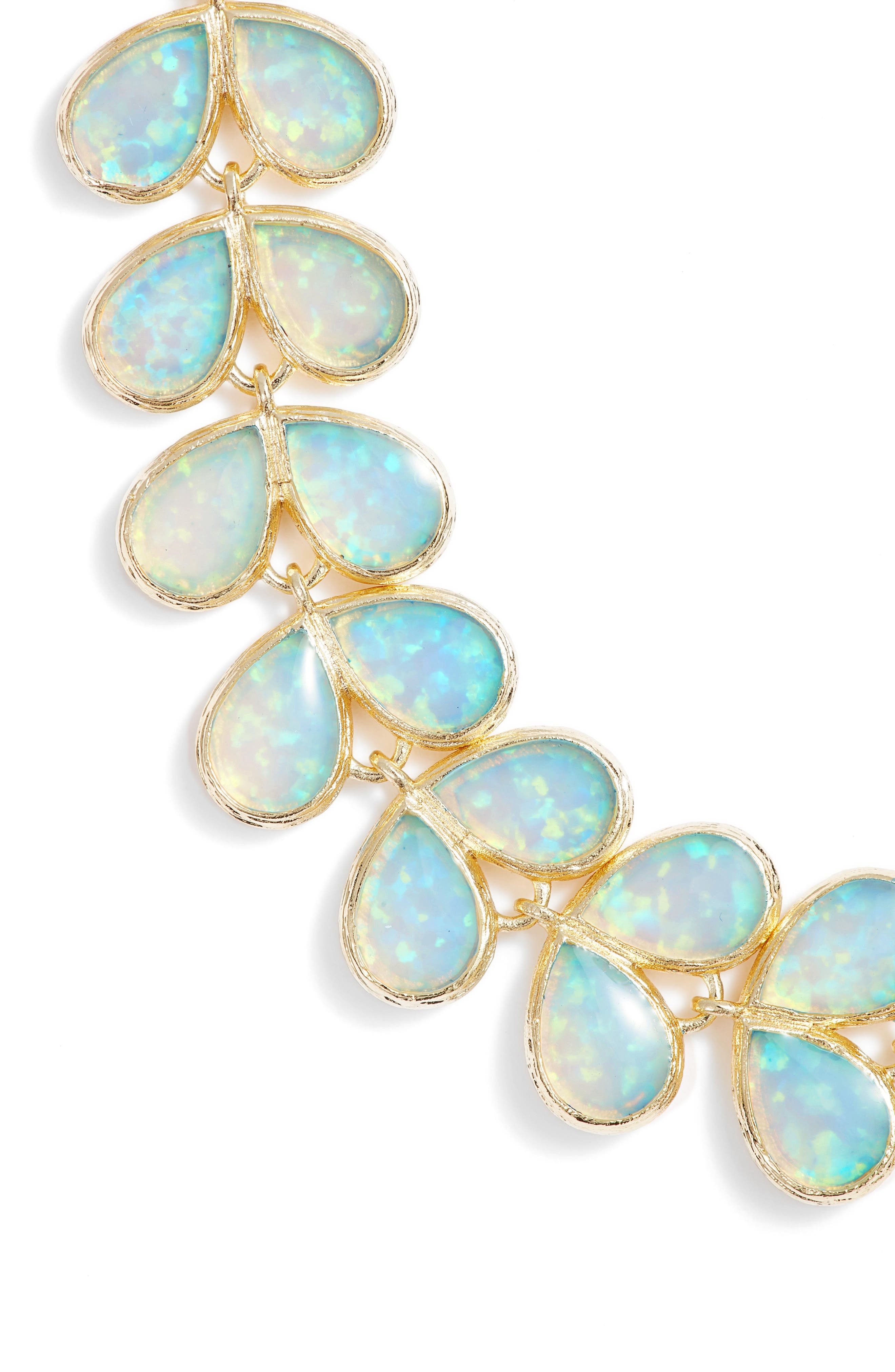Opal Leaf Necklace,                             Alternate thumbnail 2, color,                             400