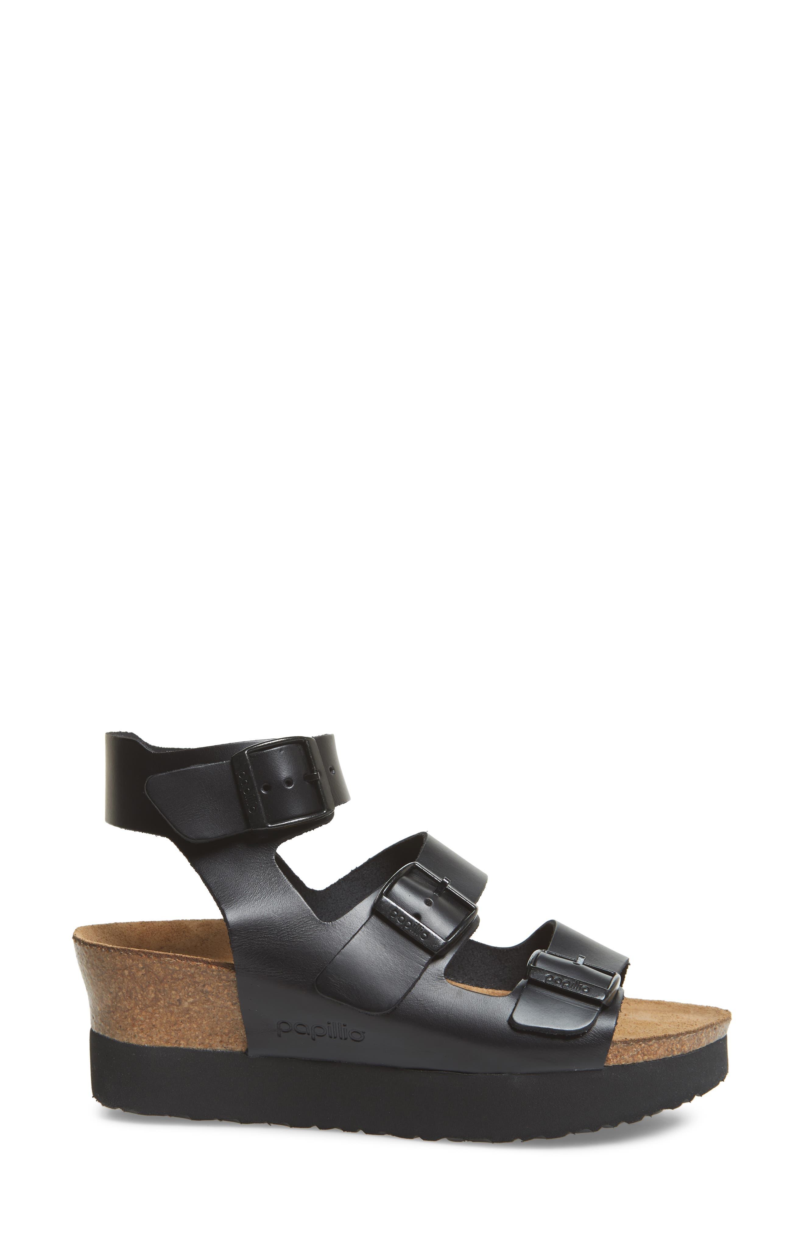 Papillio by Birkenstock Linnea Platform Sandal,                             Alternate thumbnail 3, color,                             001