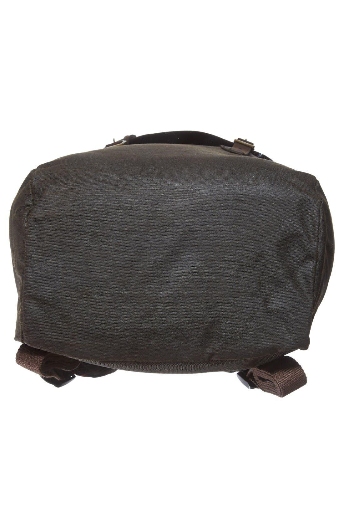 Waxed Canvas Backpack,                             Alternate thumbnail 5, color,                             300