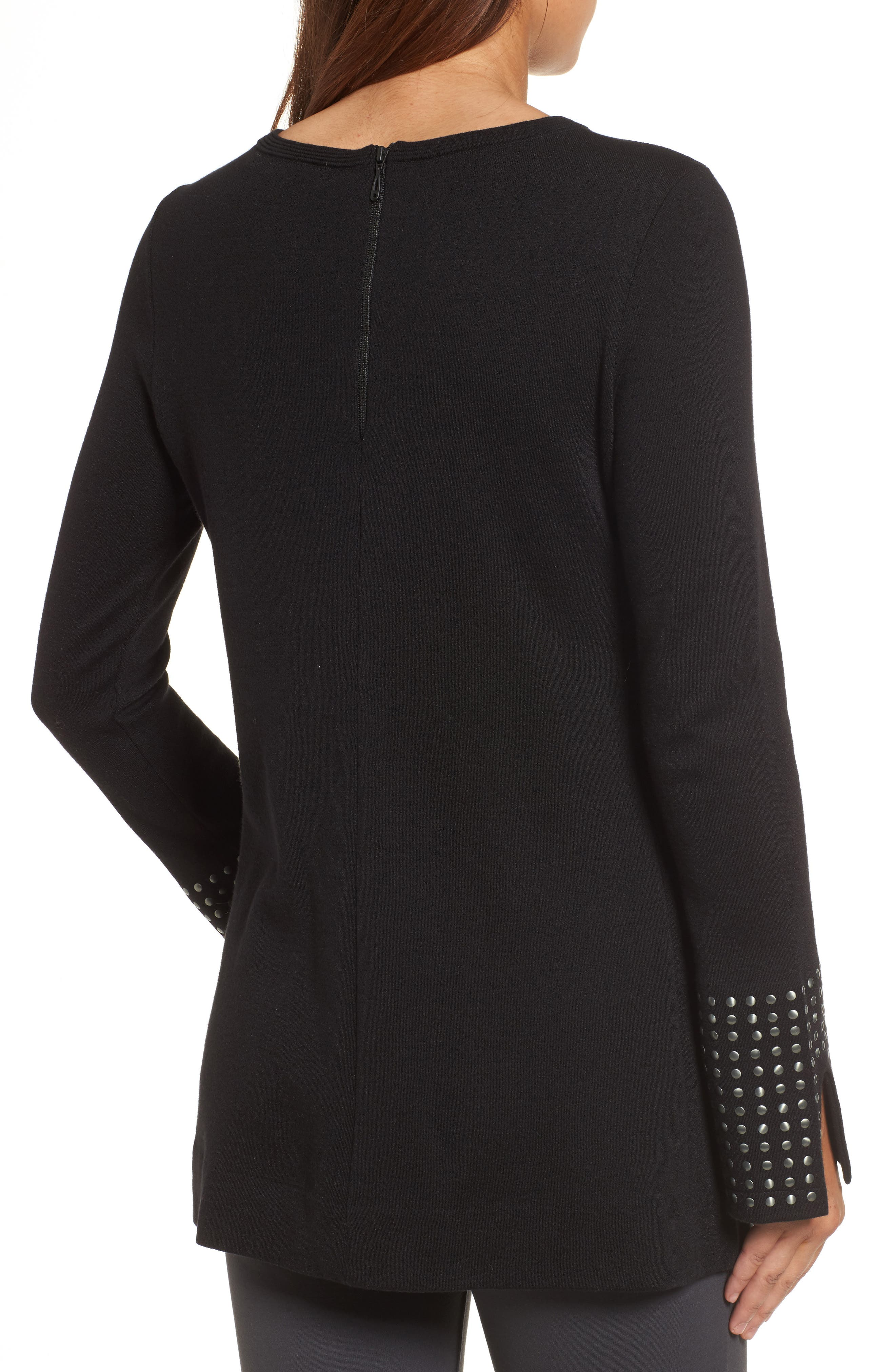 Stud Cuff Top,                             Alternate thumbnail 2, color,                             004