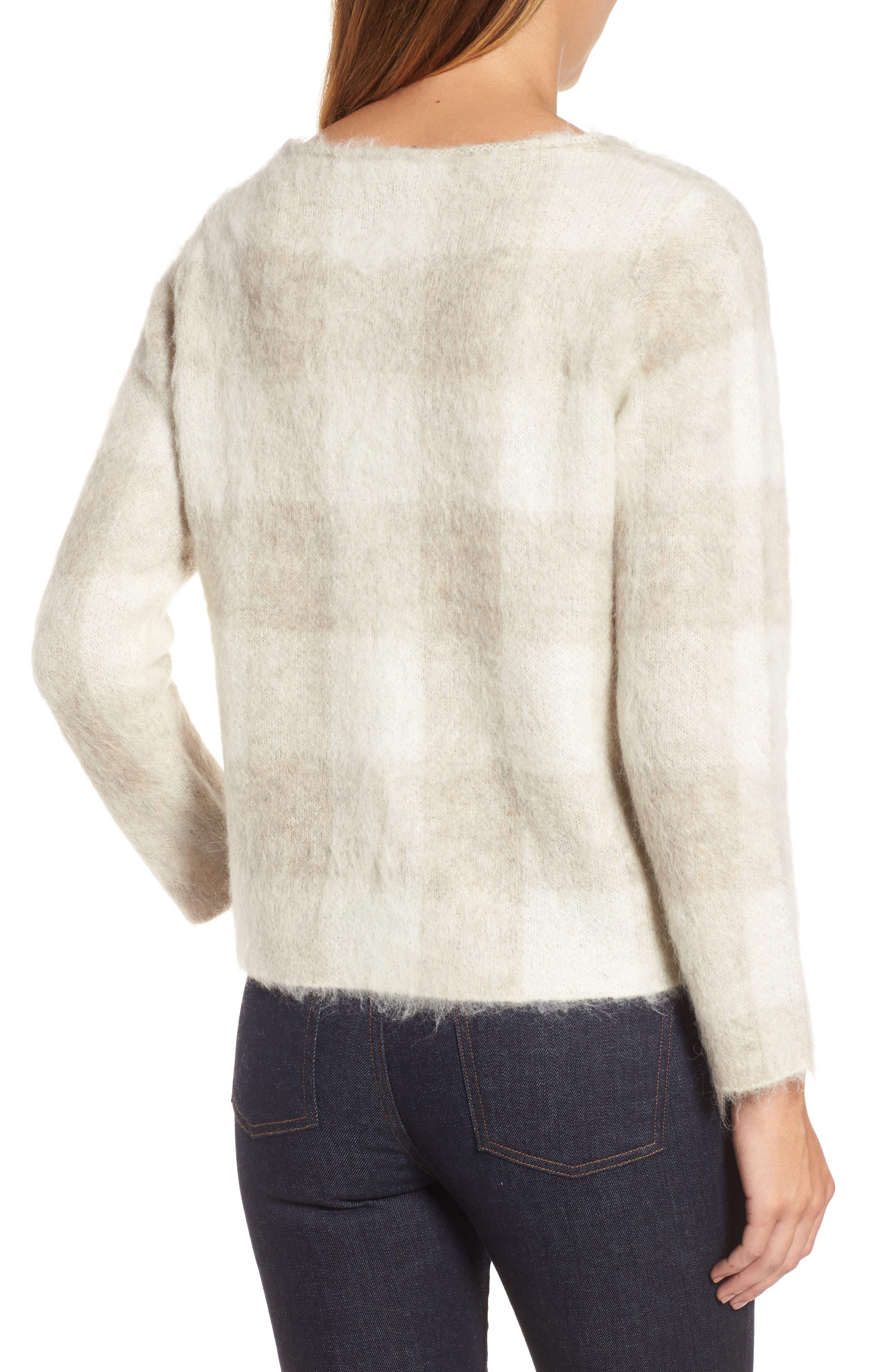 Check Plaid Sweater,                             Alternate thumbnail 4, color,