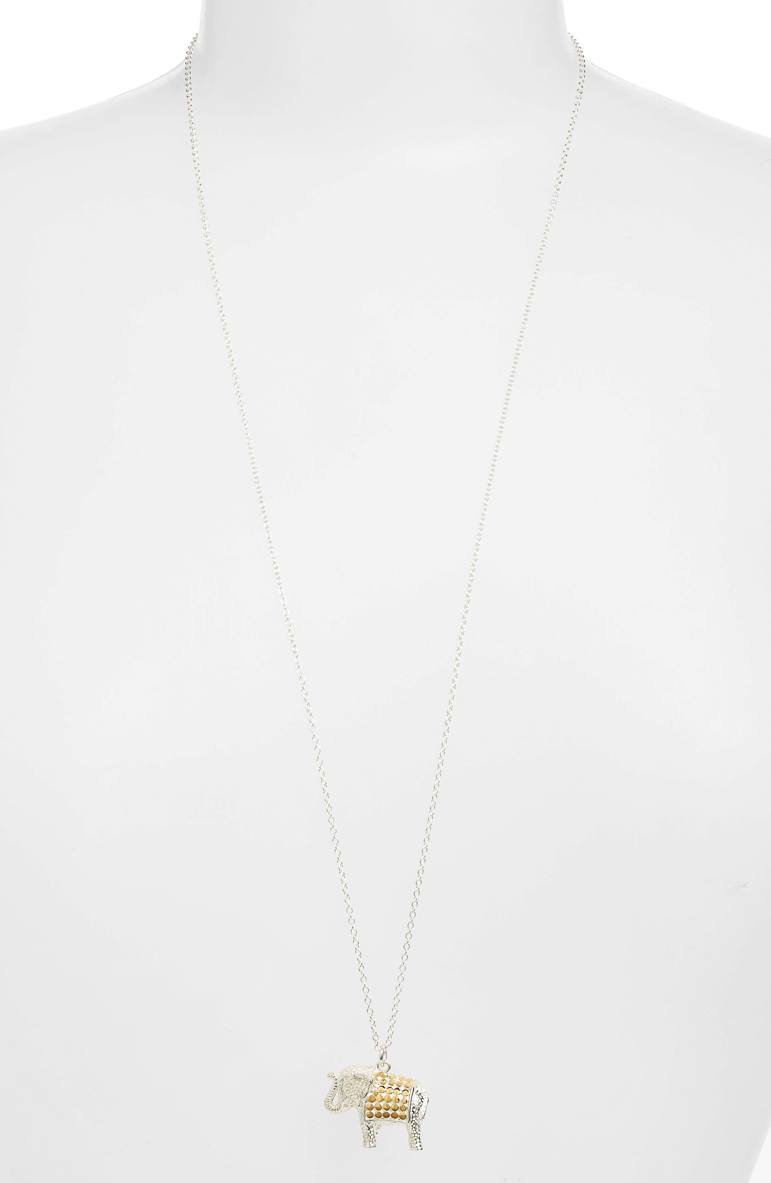 Jewelry That Makes a Difference Elephant Pendant Necklace,                         Main,                         color,