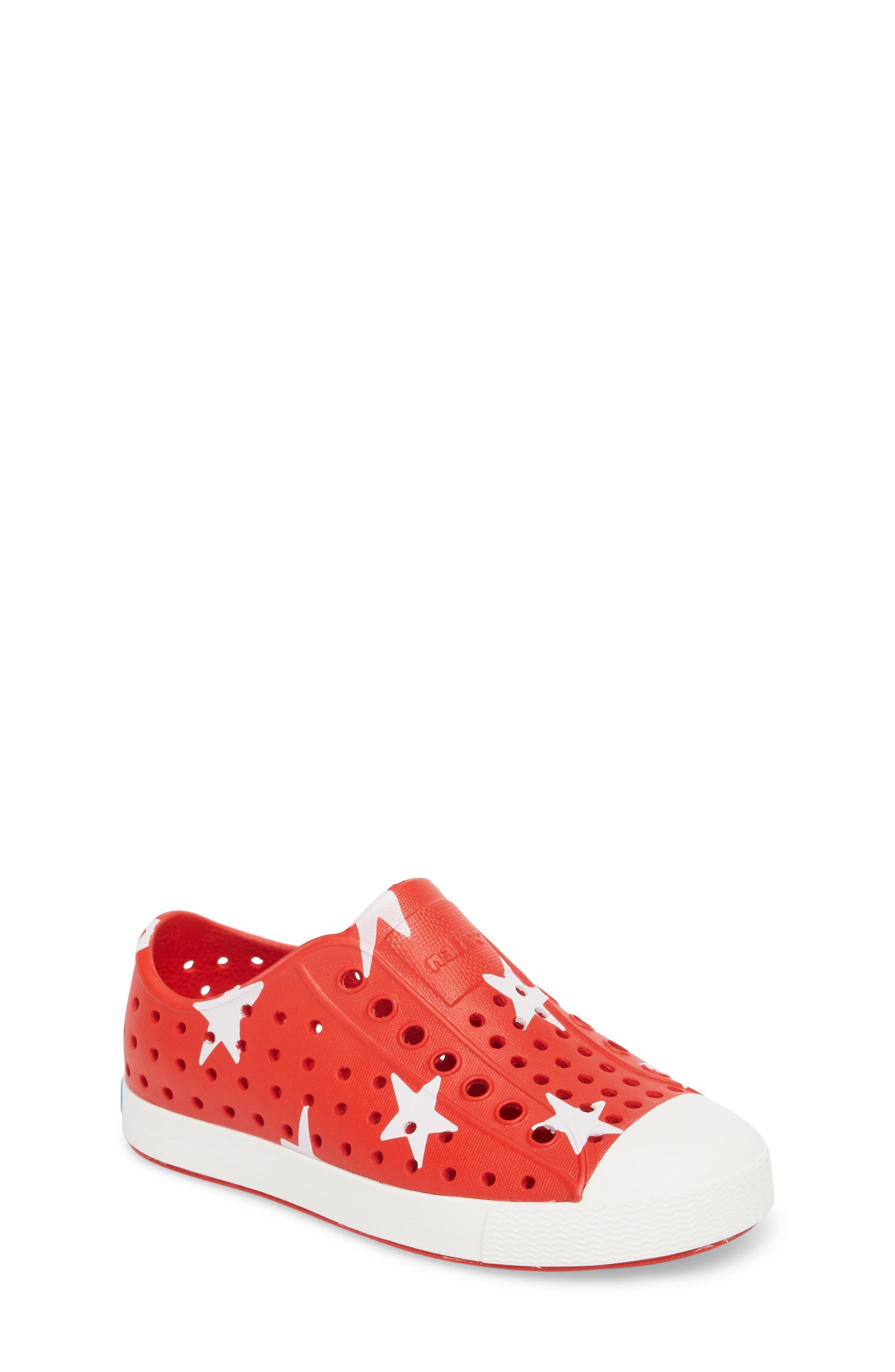Jefferson Quartz Slip-On Sneaker,                             Main thumbnail 1, color,                             TORCH RED/ BONE WHITE/ STAR