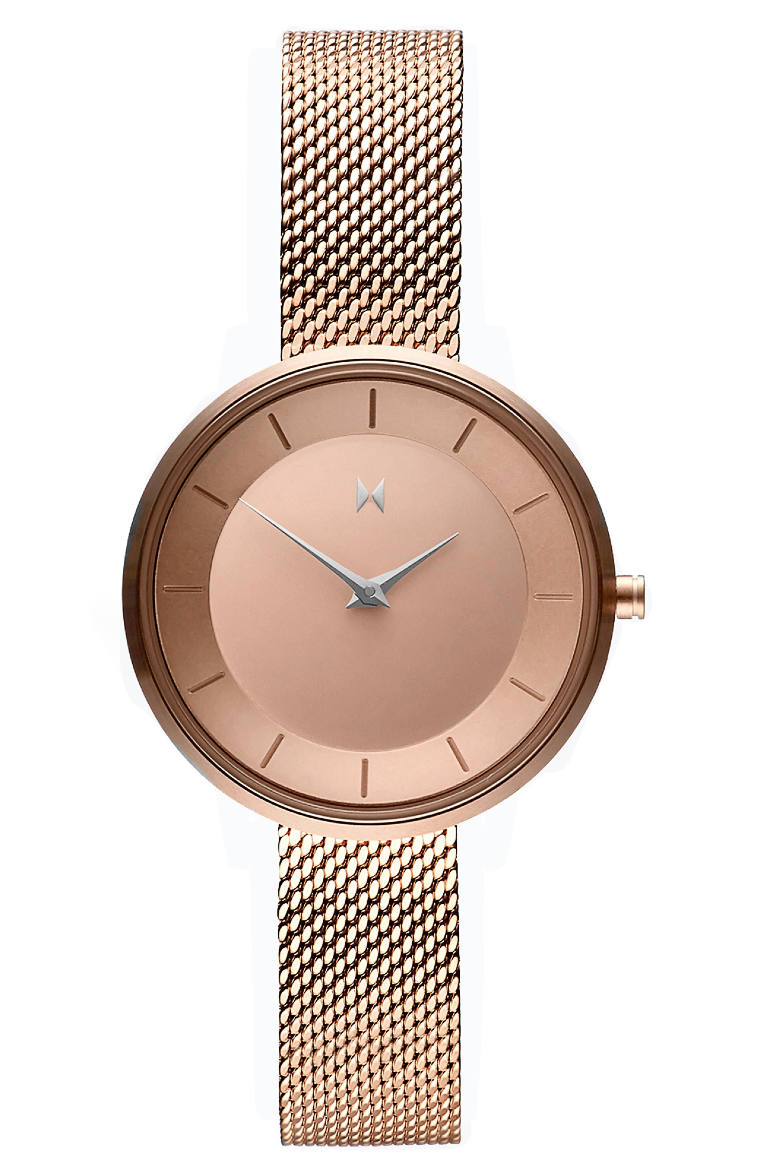 MVMT Mod Mesh Strap Bracelet Watch, 32Mm in Rose Gold