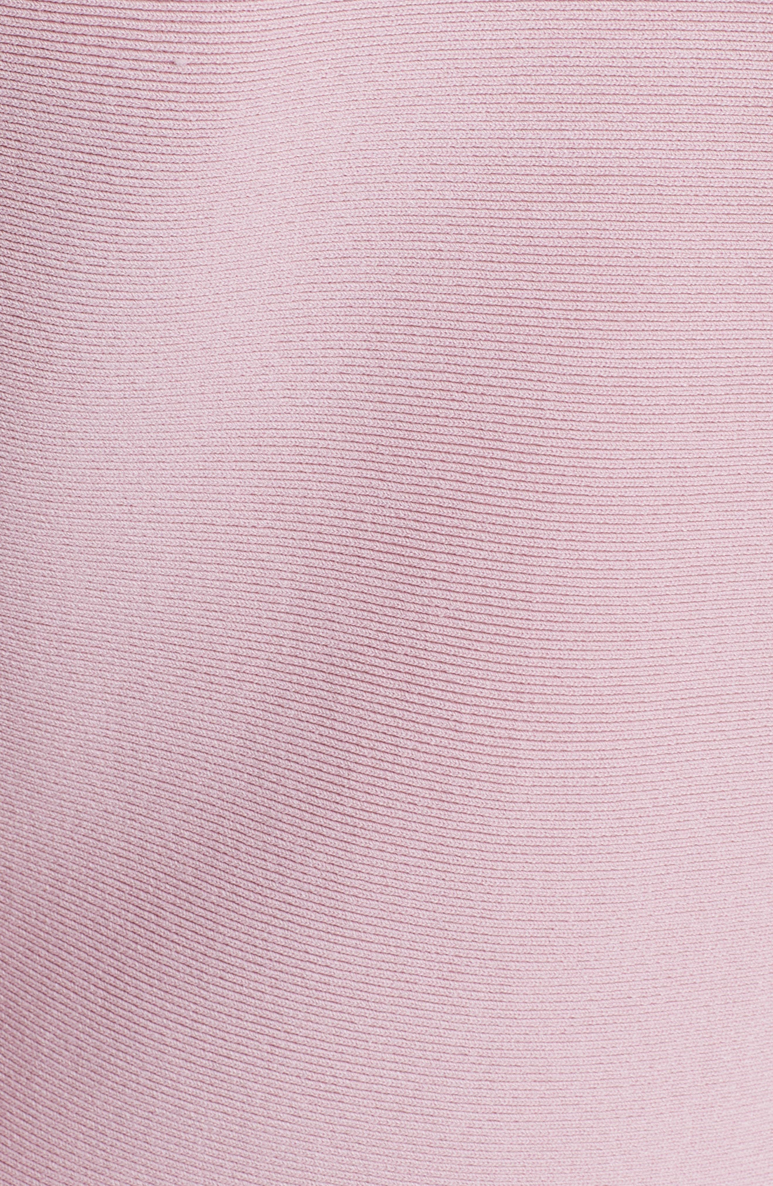 Hinlia Peplum Sweater,                             Alternate thumbnail 5, color,                             DUSKY PINK