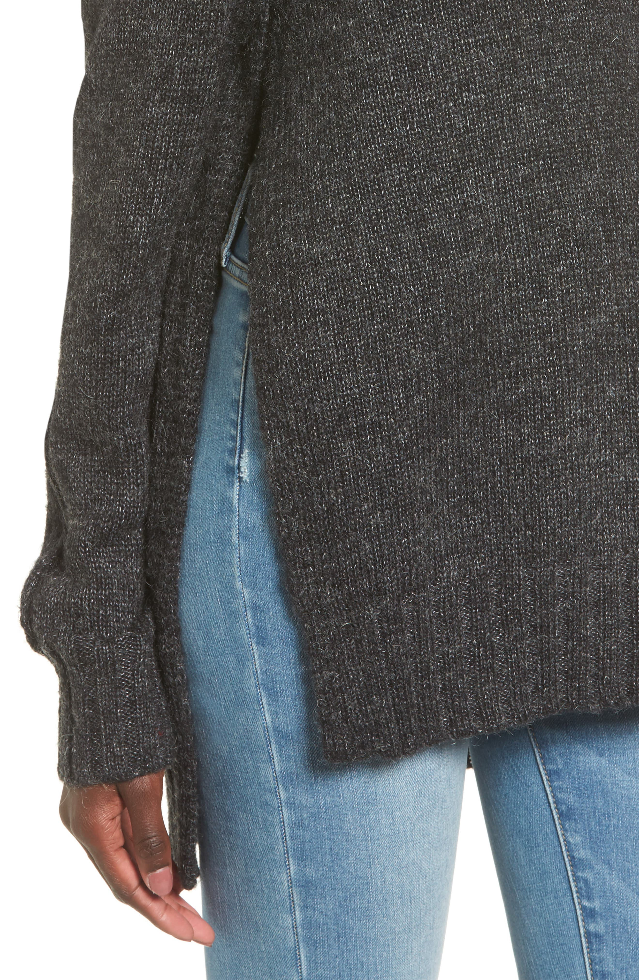 Stacy Turtleneck Sweater,                             Alternate thumbnail 4, color,                             020
