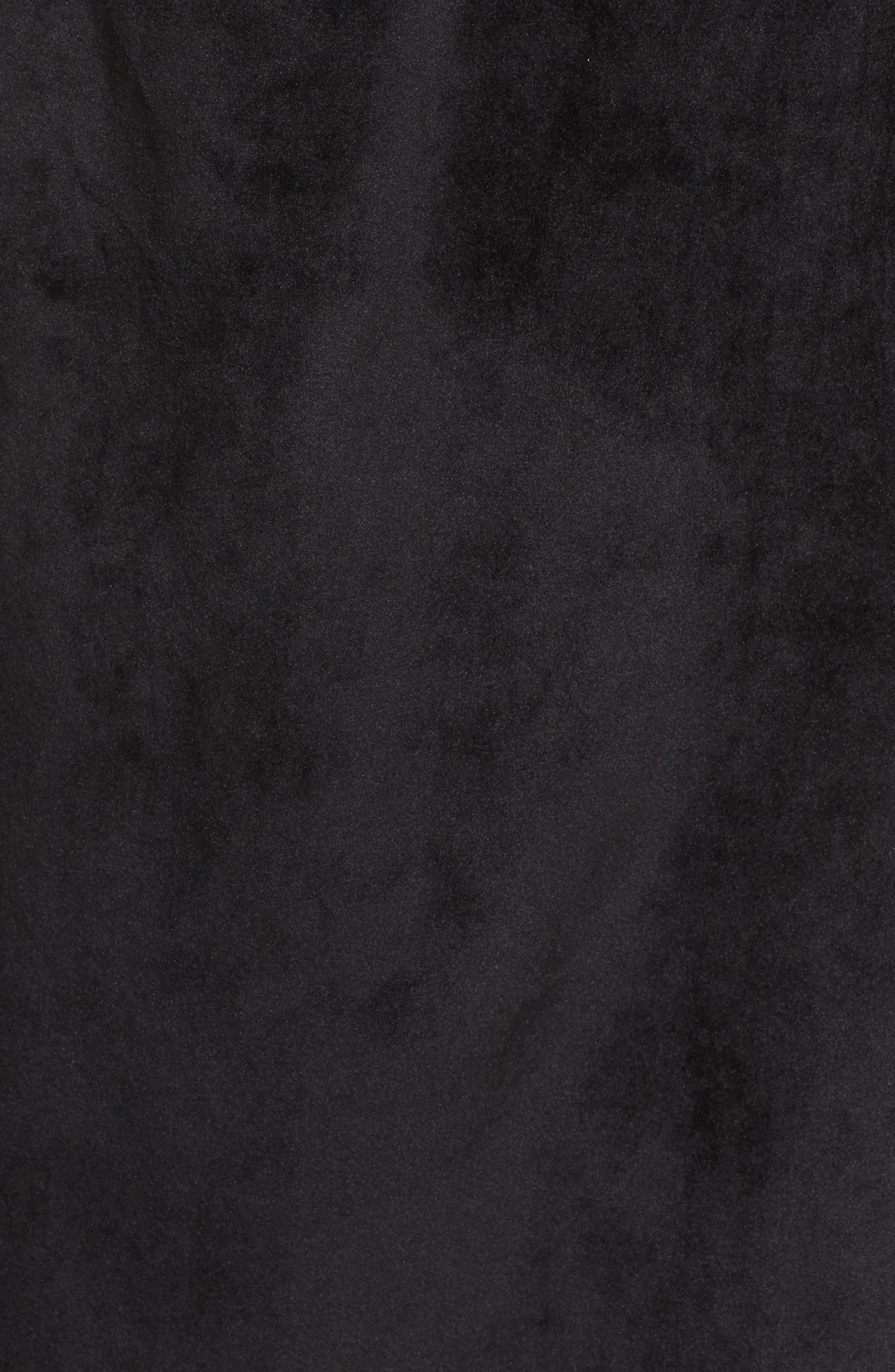 Luxury Plush Hooded Robe,                             Alternate thumbnail 5, color,                             001
