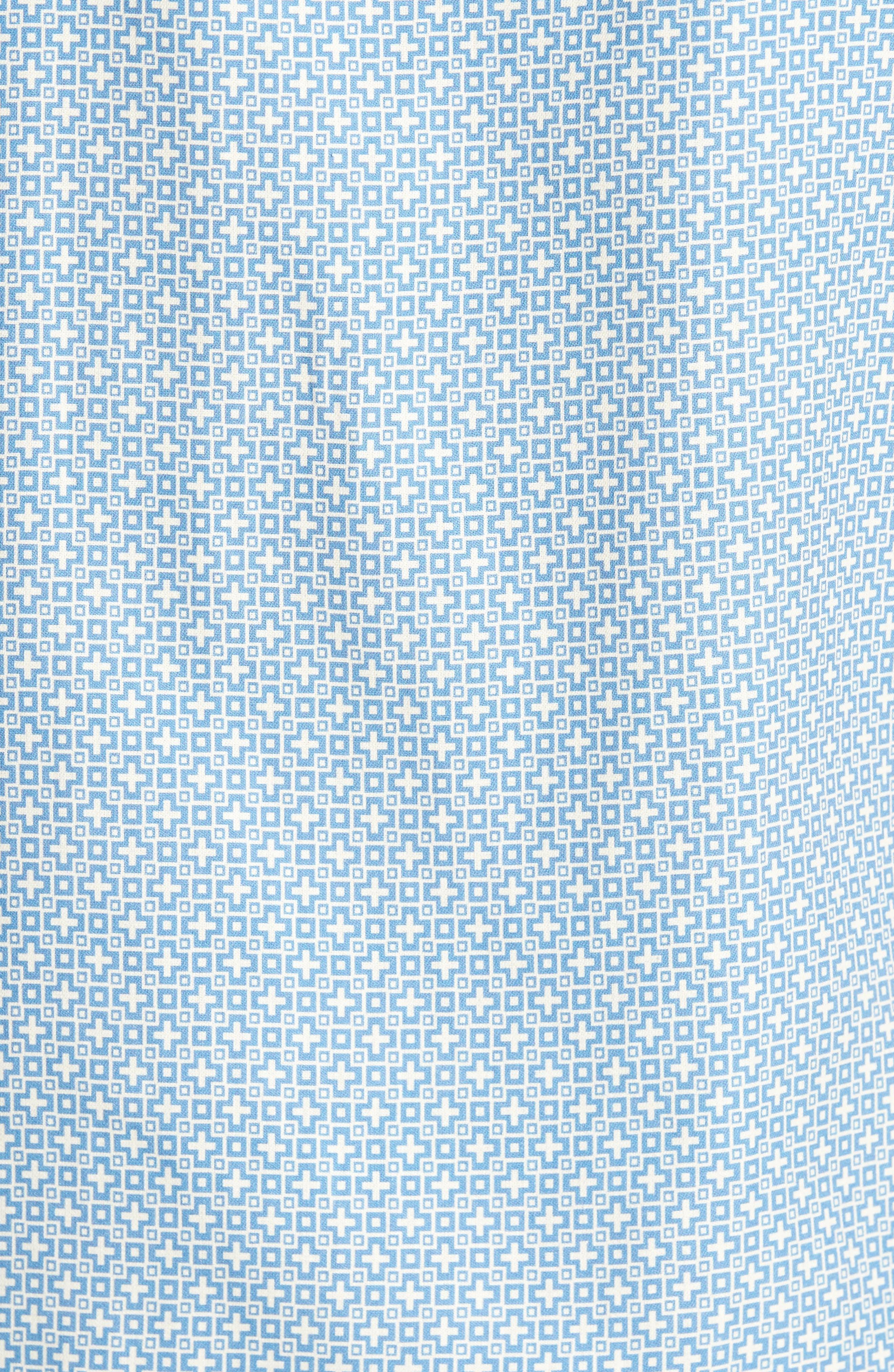 Everest Print Silk Blend Sport Shirt,                             Alternate thumbnail 14, color,