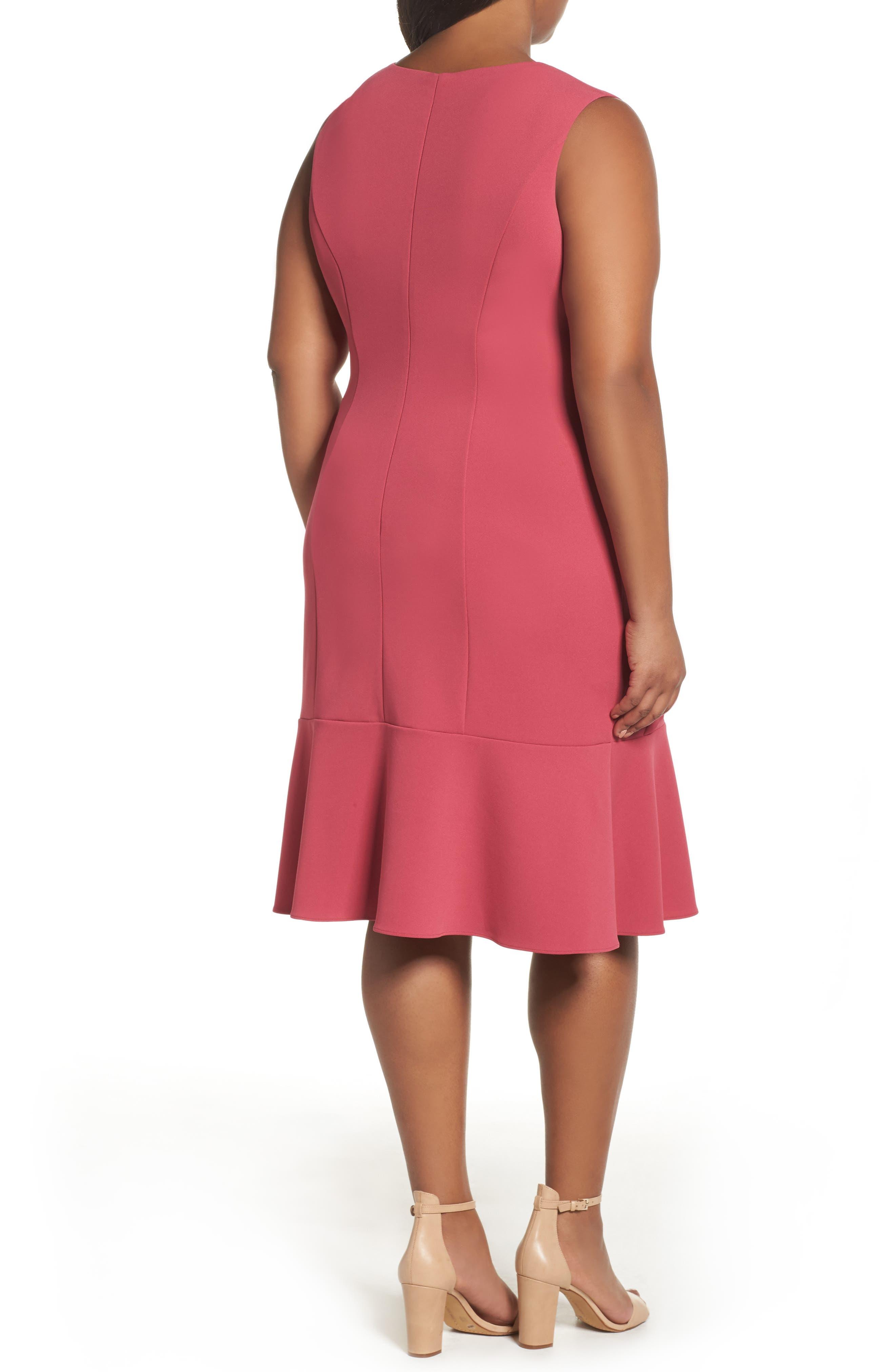 Knit Crepe Drop Waist Dress,                             Alternate thumbnail 2, color,                             655