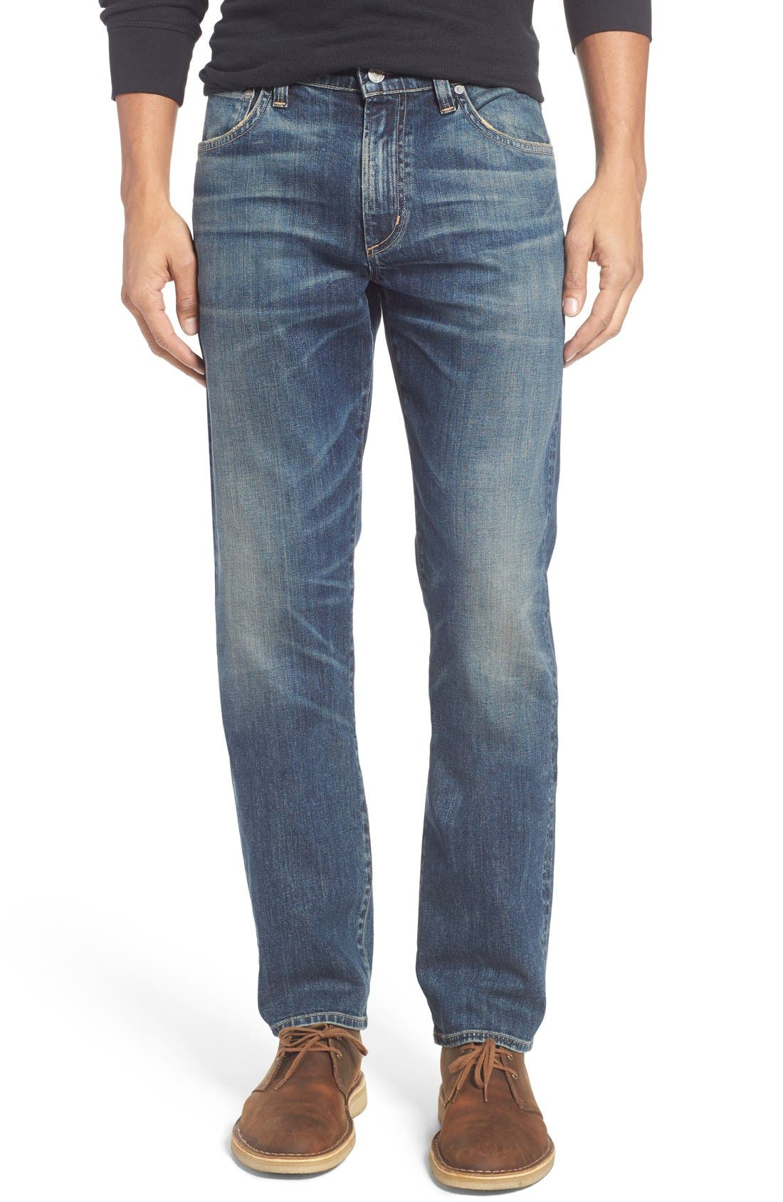 Gage Slim Straight Leg Jeans,                             Main thumbnail 1, color,                             DUNES