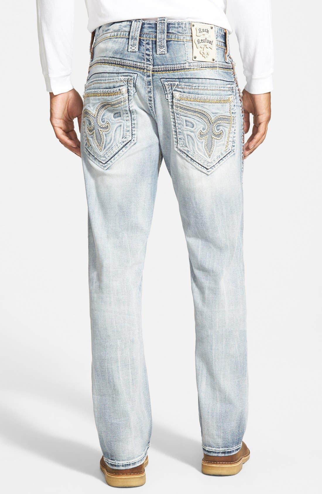 Straight Leg Jeans,                             Alternate thumbnail 2, color,                             431