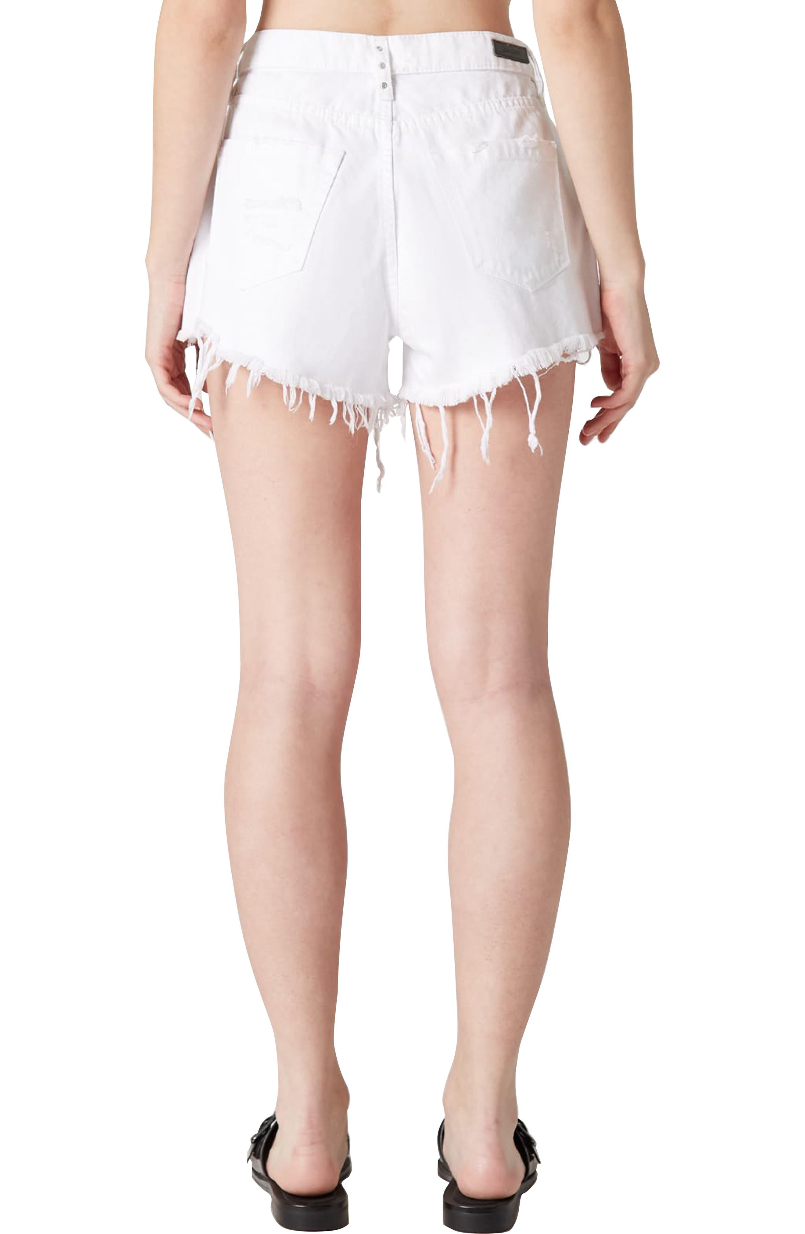 The Barrow Grommet Detail Denim Shorts,                             Alternate thumbnail 2, color,                             LIGHTBOX WHITE