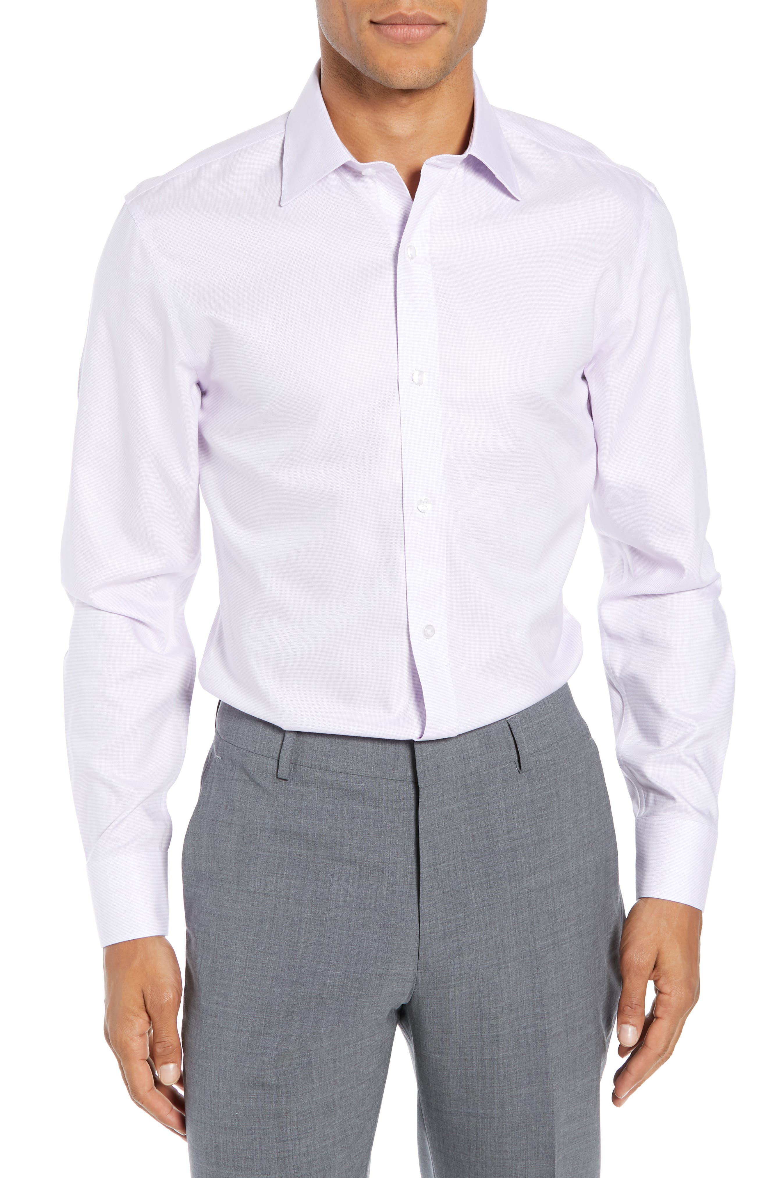 Bonobos Daily Grind Slim Fit Solid Dress Shirt, Purple
