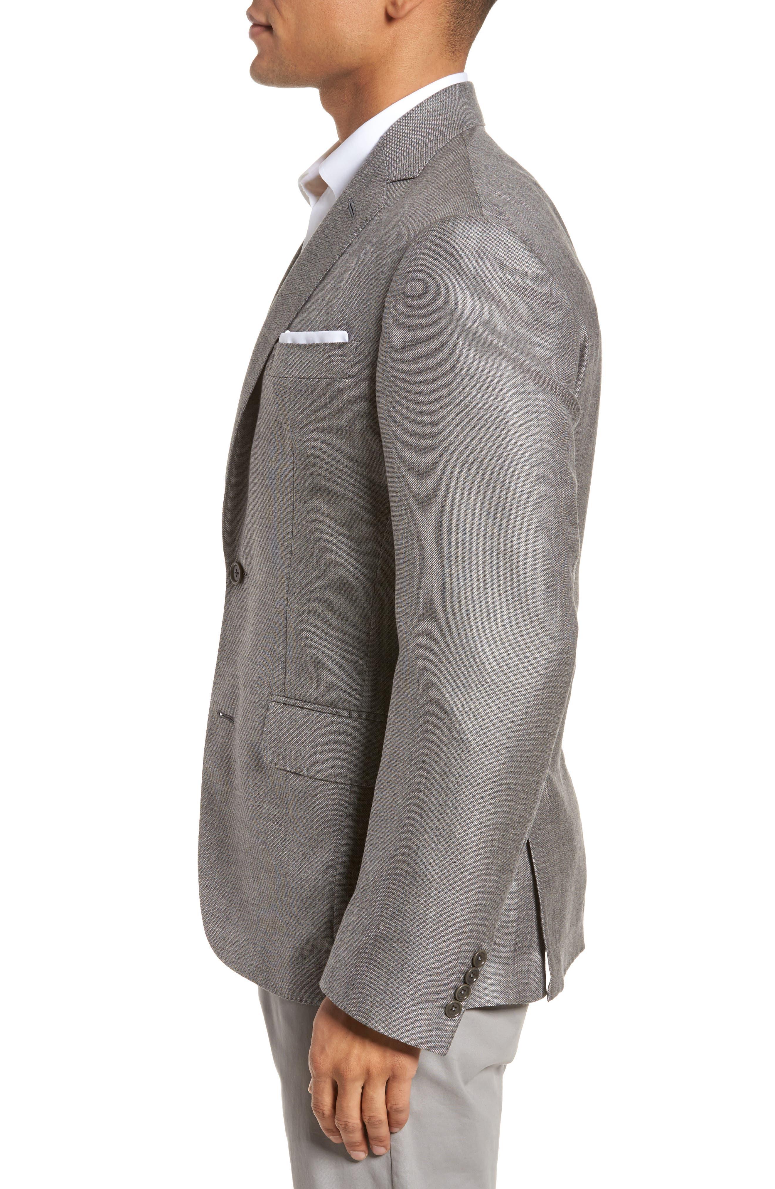 Trim Fit Cashmere & Silk Blazer,                             Alternate thumbnail 3, color,                             030