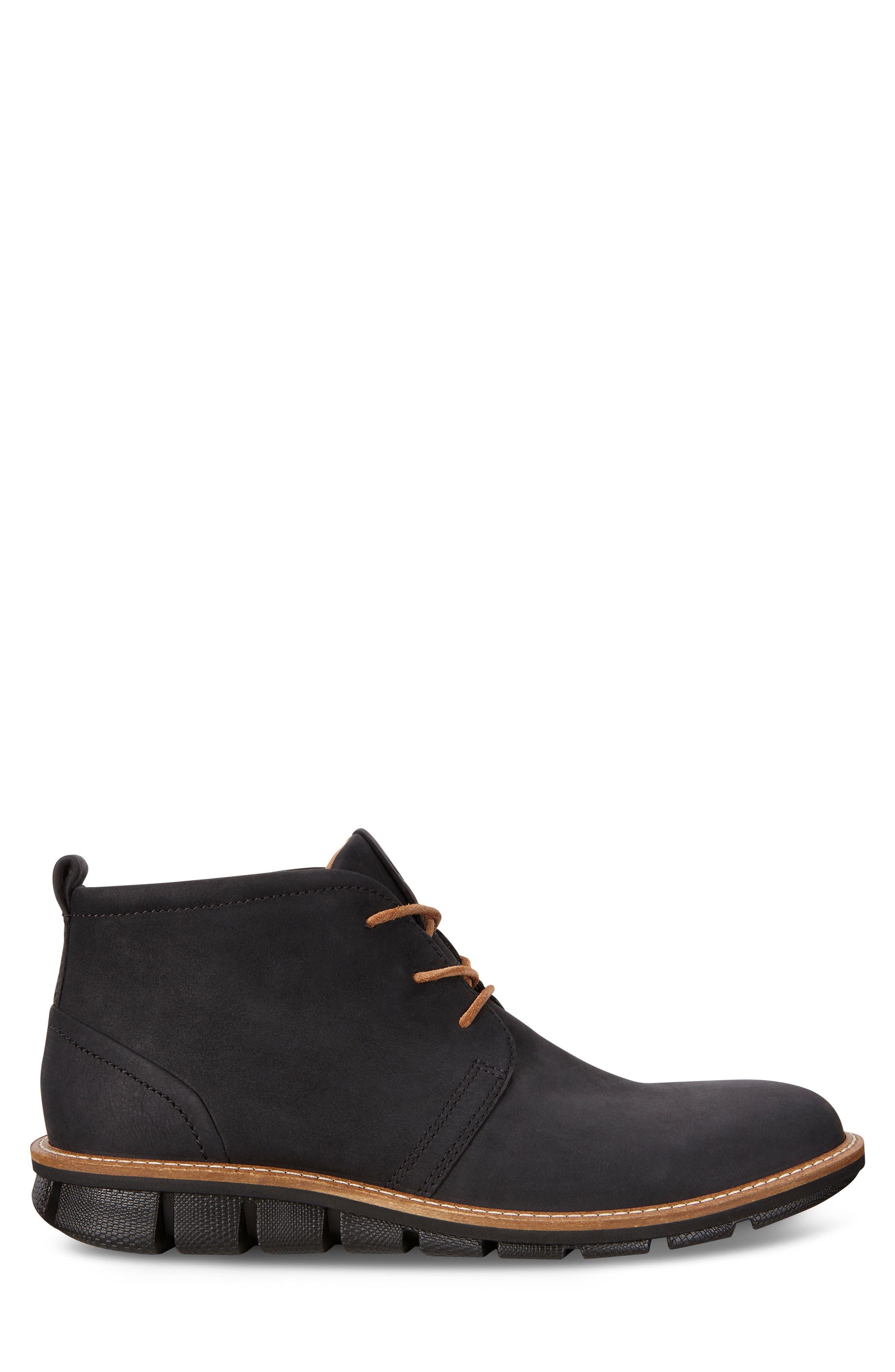 'Jeremy Hybrid' Plain Toe Boot,                             Alternate thumbnail 2, color,                             BLACK LEATHER