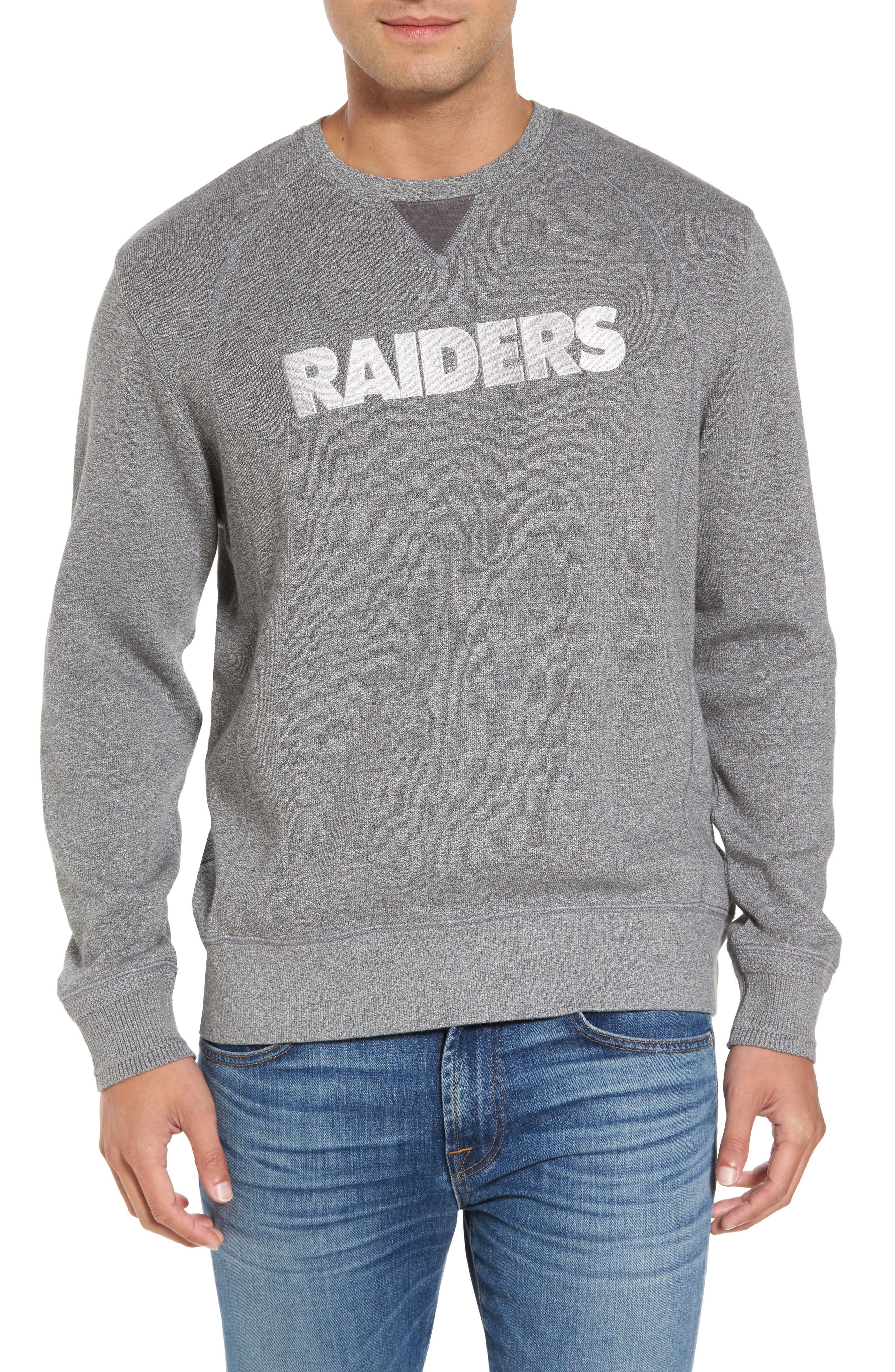 NFL Stitch of Liberty Embroidered Crewneck Sweatshirt,                             Main thumbnail 23, color,