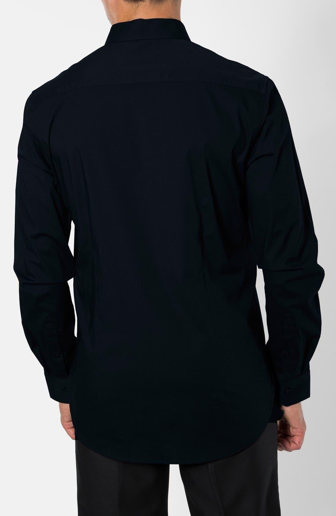 'Peace Train' Trim Fit Woven Shirt,                             Alternate thumbnail 16, color,