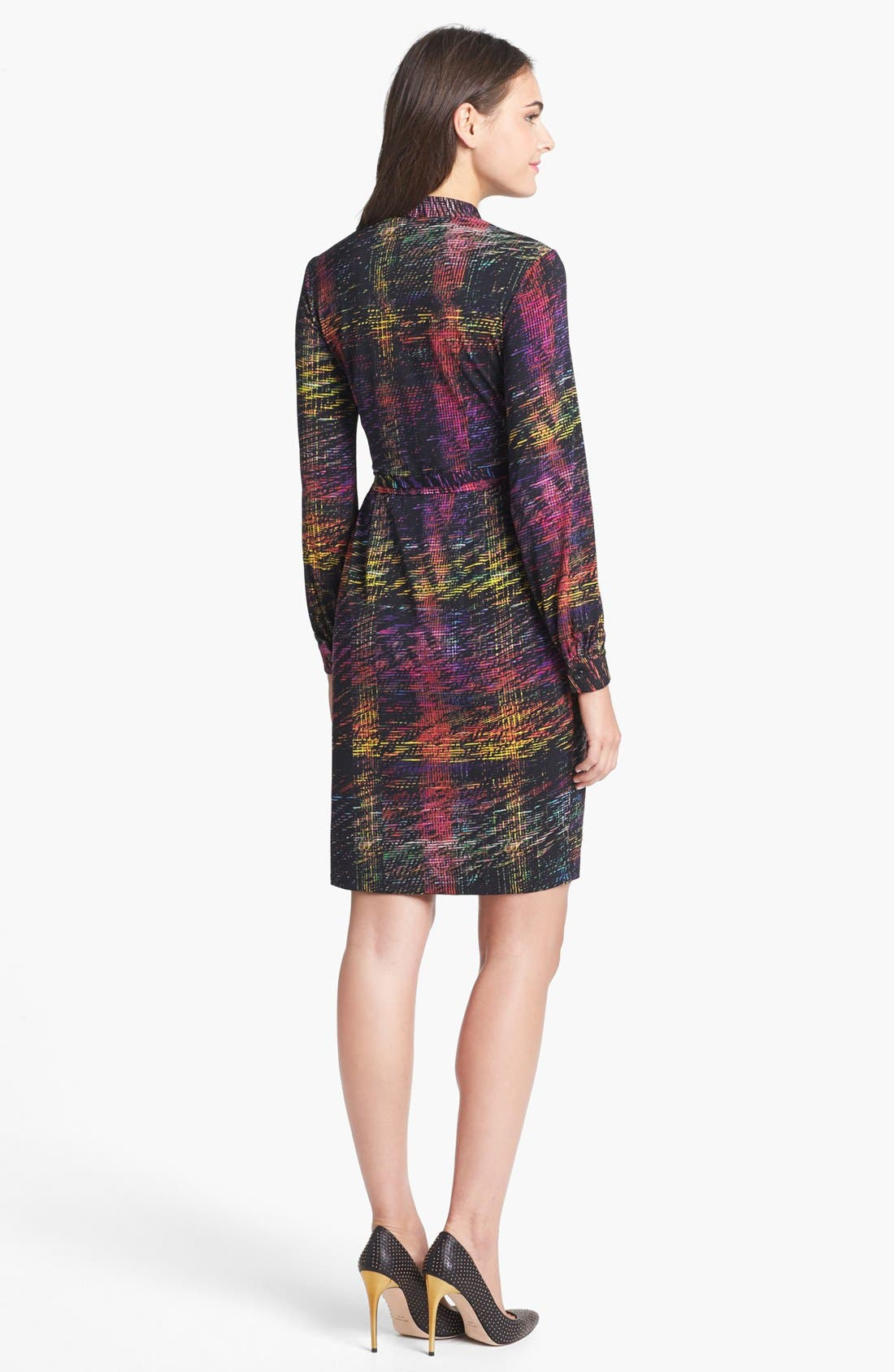 Print Jersey Wrap Dress,                             Alternate thumbnail 3, color,