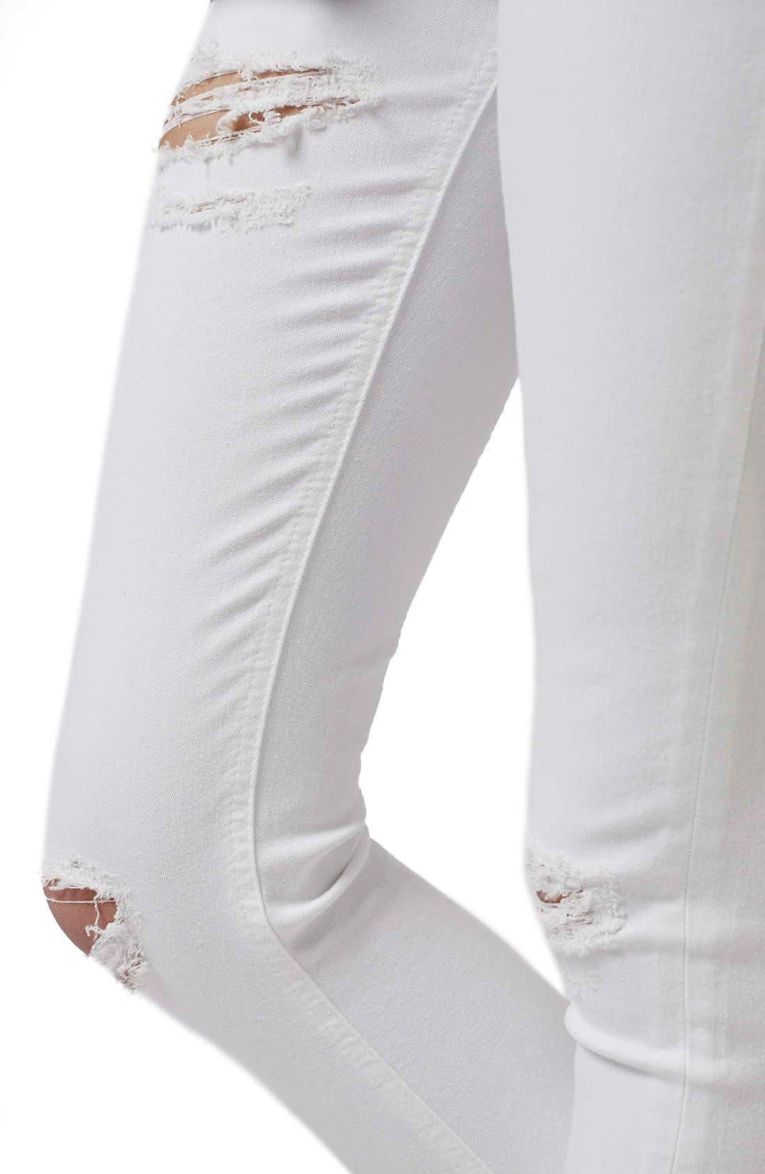'Jamie - Super Ripped' High Waist Skinny Jeans,                             Alternate thumbnail 5, color,