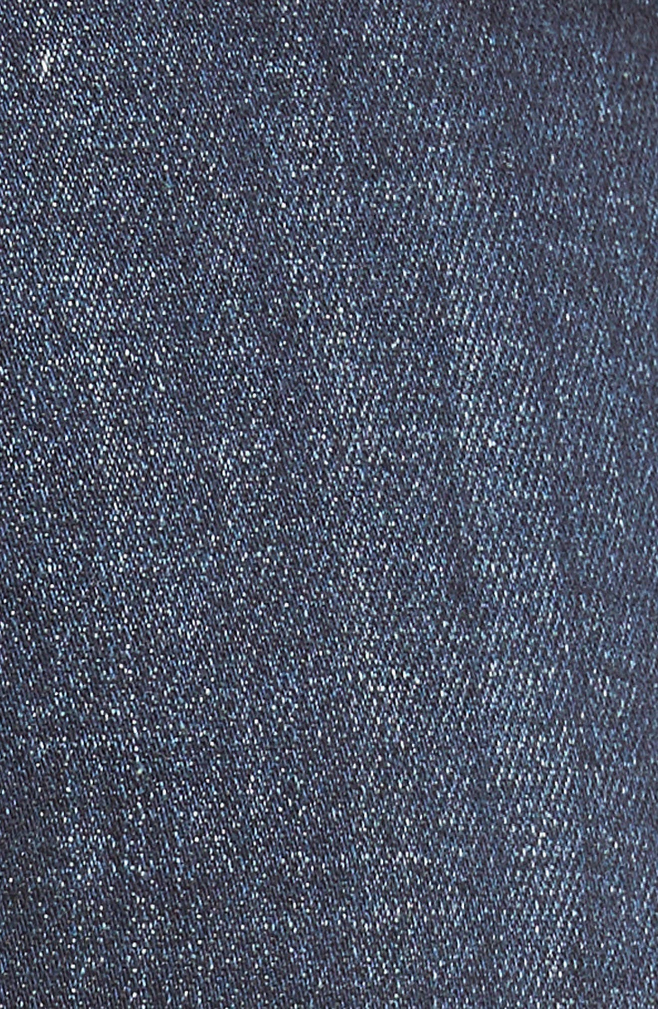 Release Hem Skinny Jeans,                             Alternate thumbnail 5, color,                             DARK AUTHENTIC