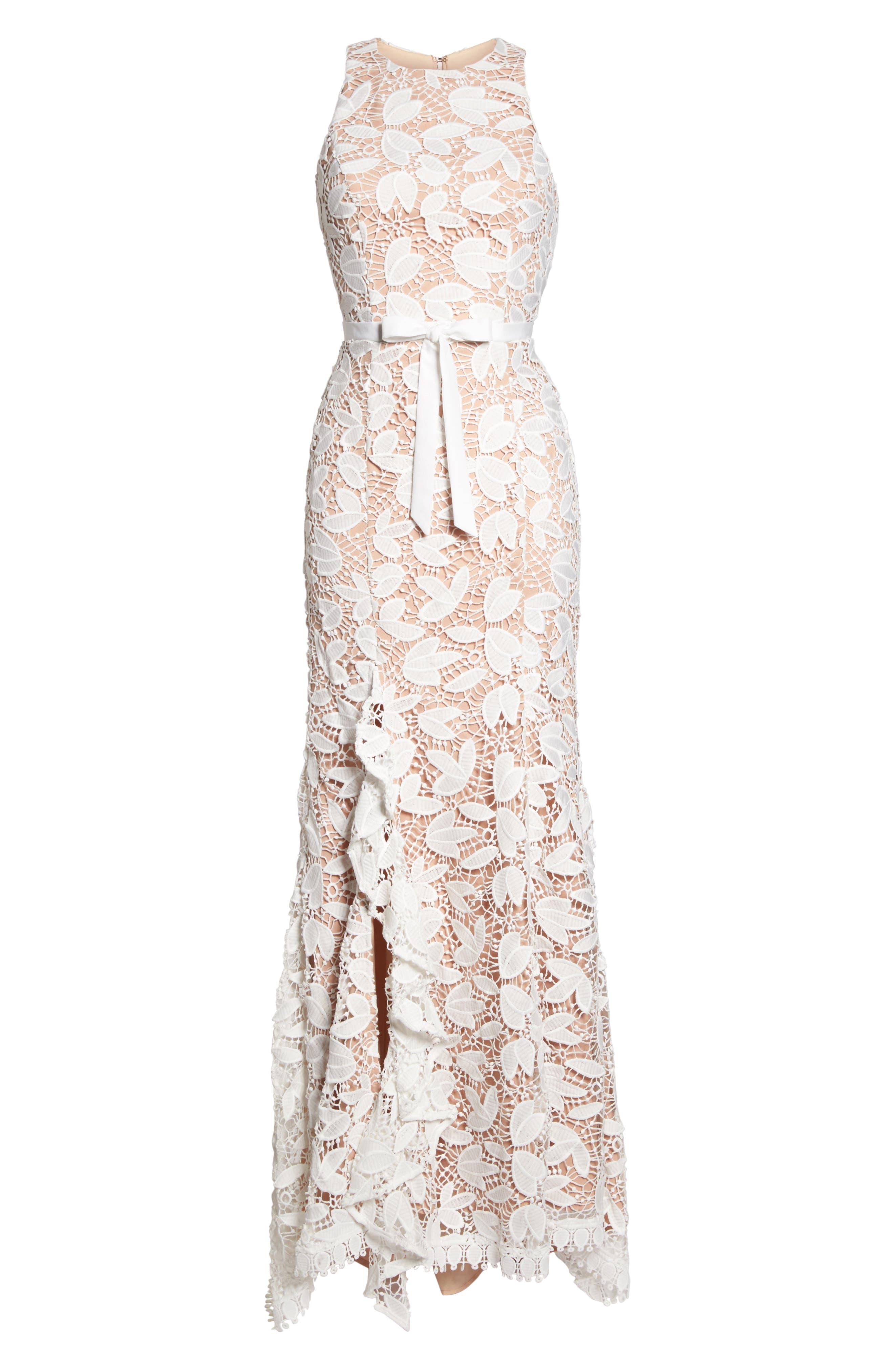 Petal Lace Gown,                             Alternate thumbnail 6, color,                             IVORY