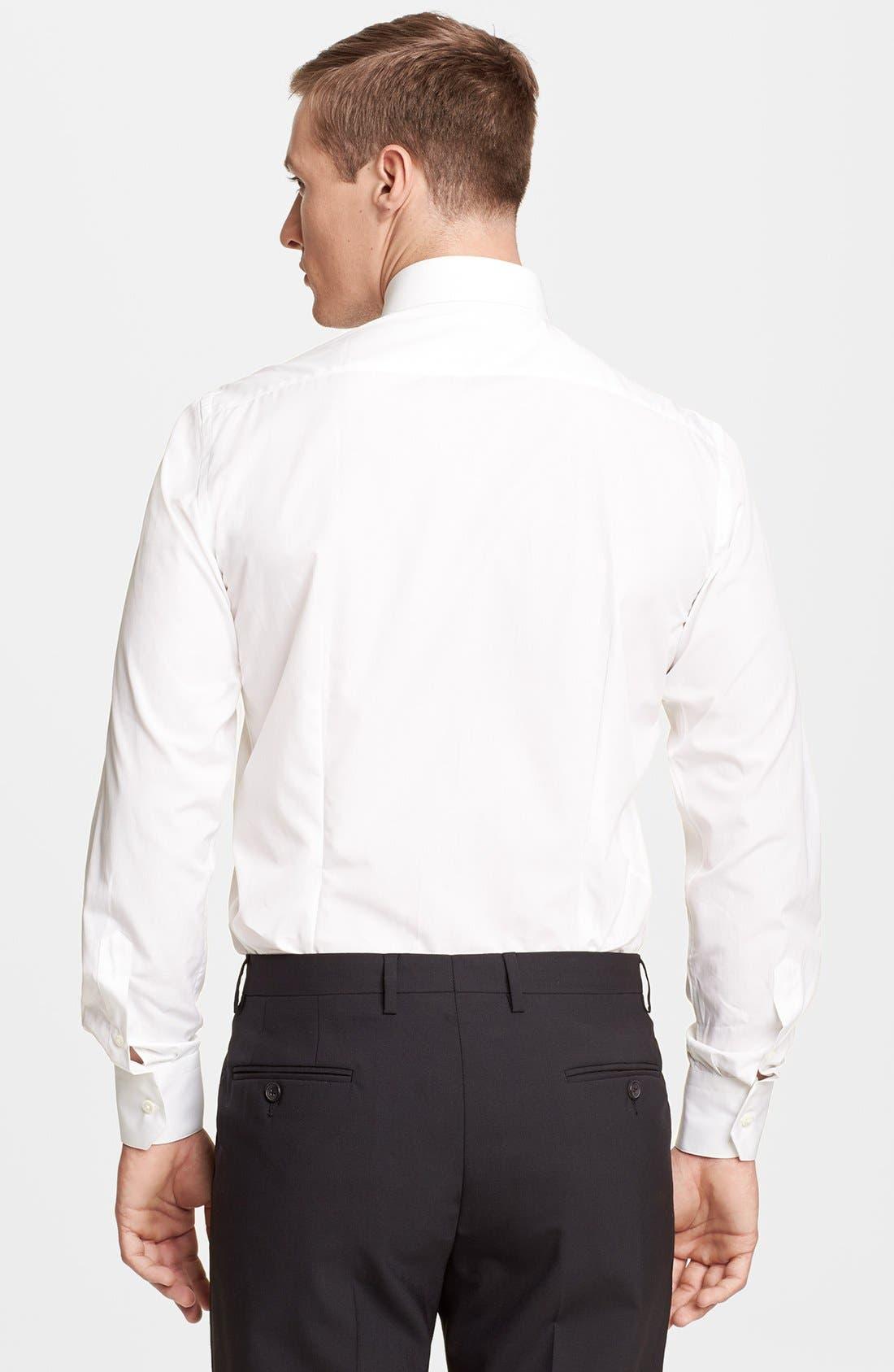 Slim Fit Poplin Dress Shirt,                             Alternate thumbnail 2, color,                             100