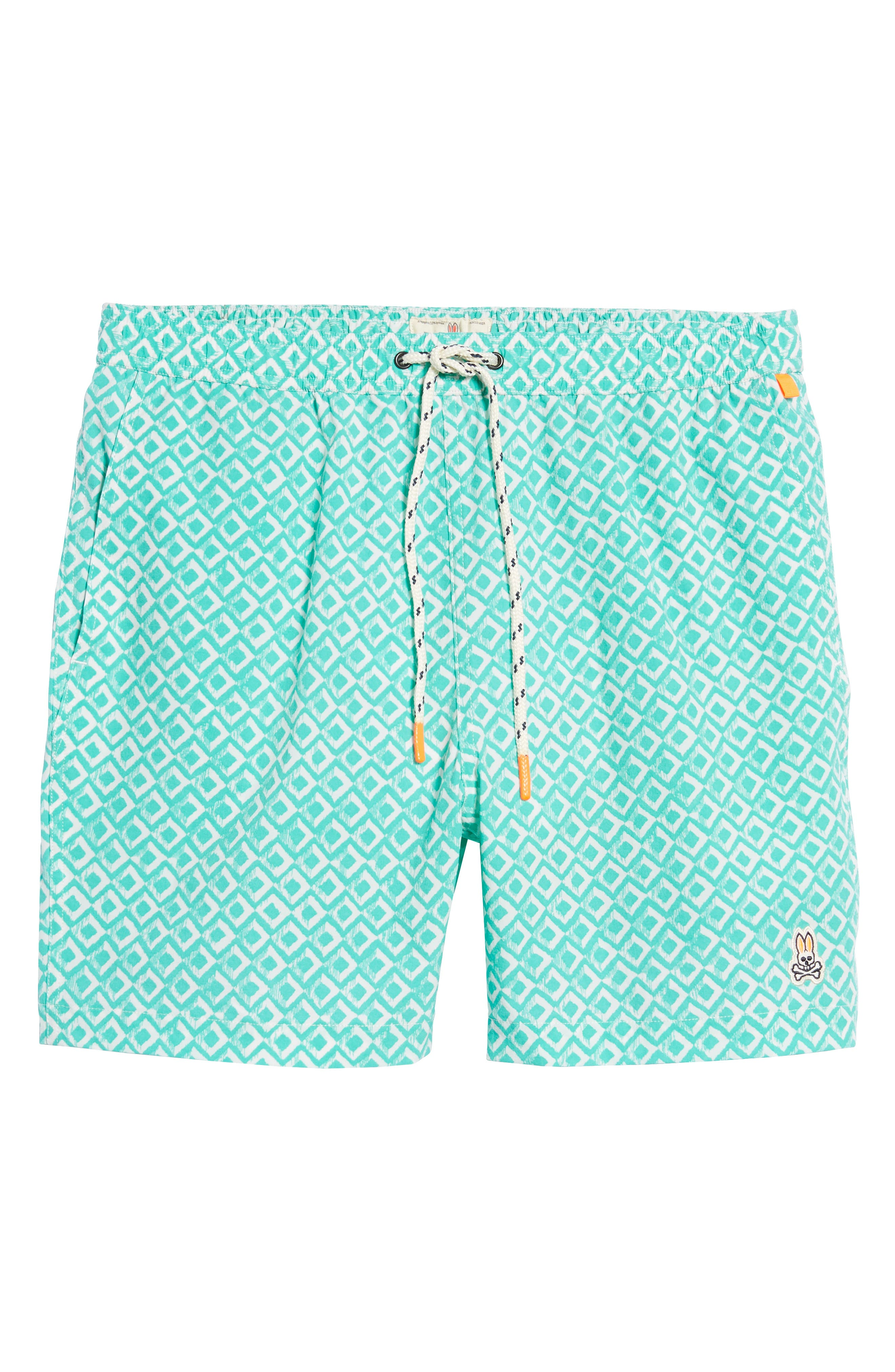 Drippy Diamond Swim Trunks,                             Alternate thumbnail 6, color,                             300
