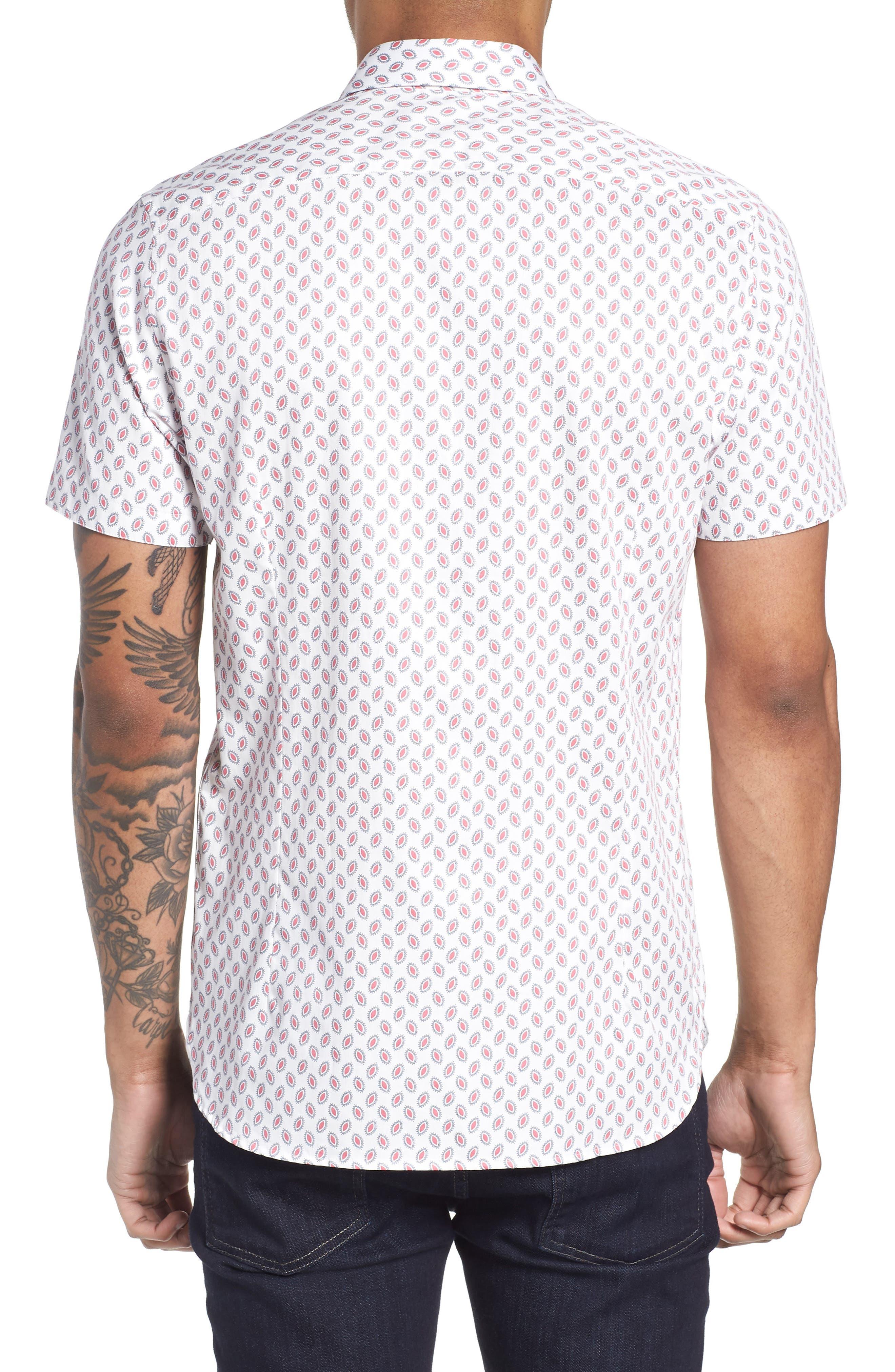 Newfone Trim Fit Chambray Sport Shirt,                             Alternate thumbnail 8, color,