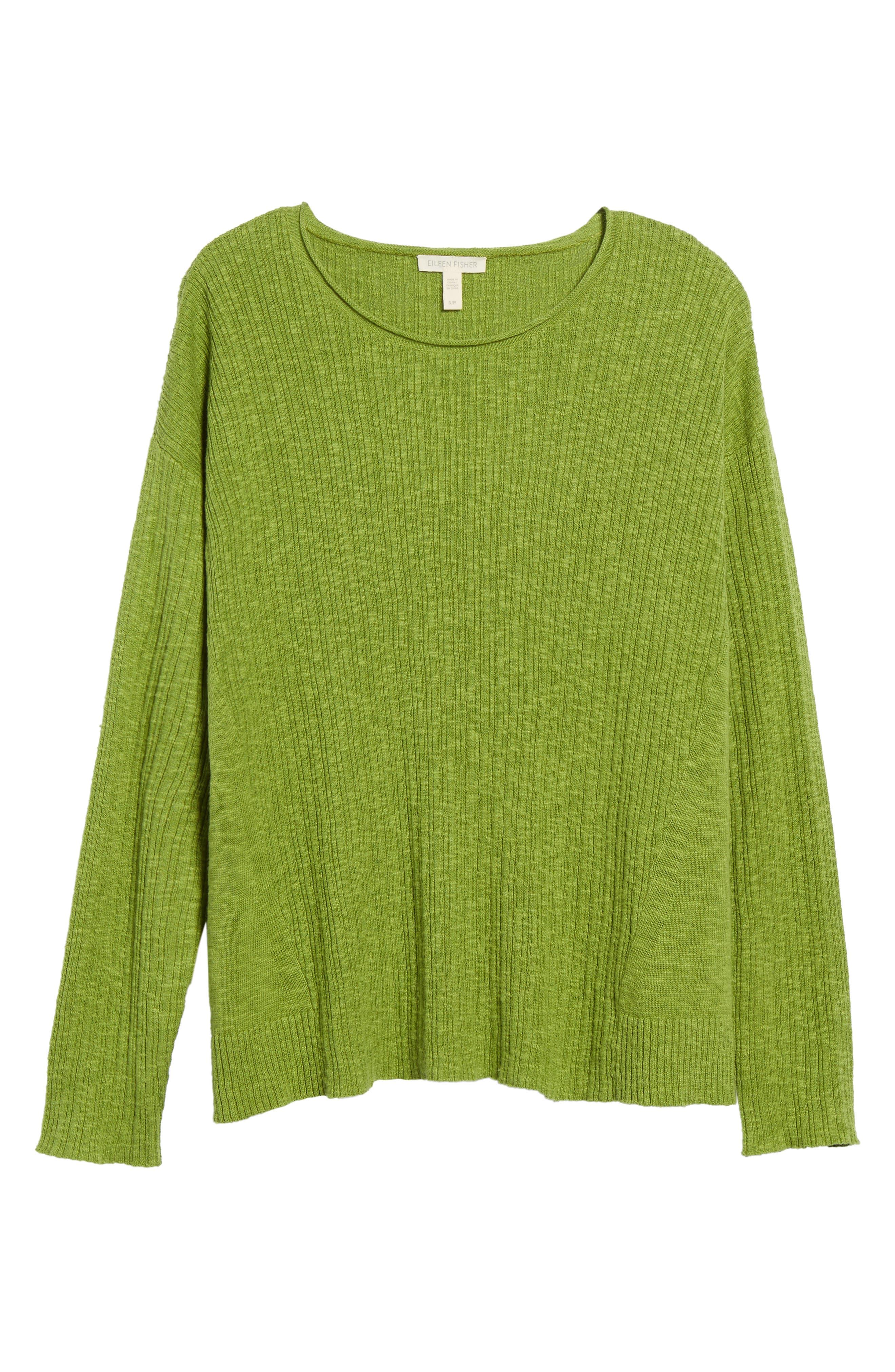 Organic Linen & Cotton Crewneck Sweater,                             Alternate thumbnail 28, color,