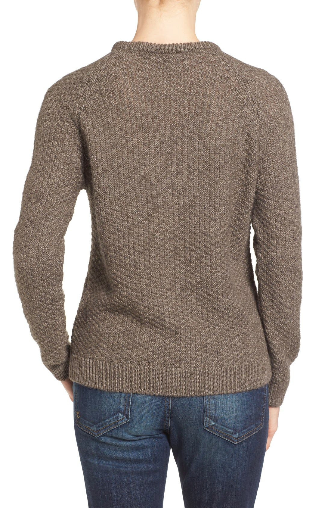 Cable Knit Crewneck Sweater,                             Alternate thumbnail 6, color,                             270