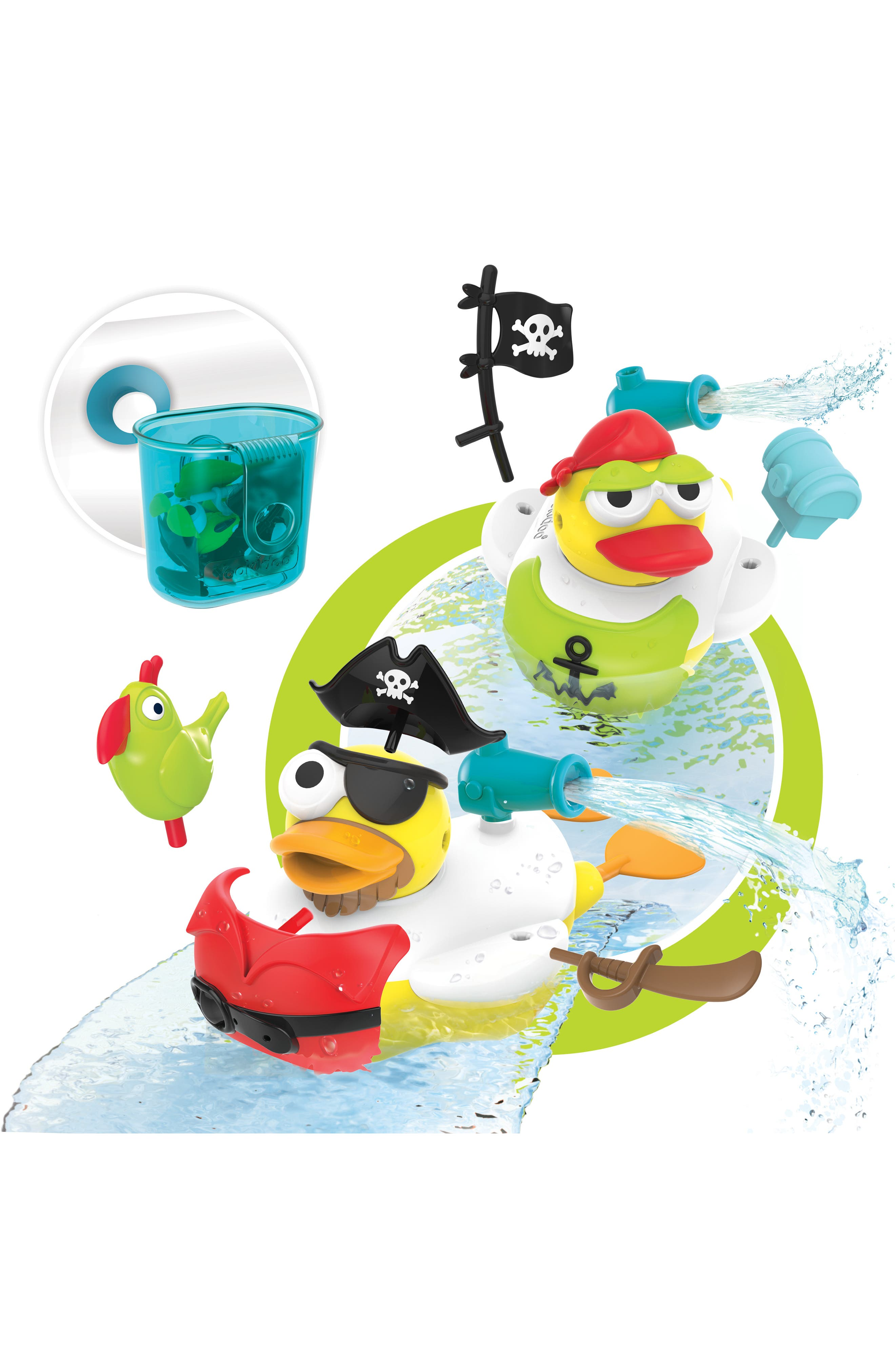 Jet Duck<sup>™</sup> Create a Pirate Bath Toy Kit,                             Alternate thumbnail 13, color,                             YELLOW