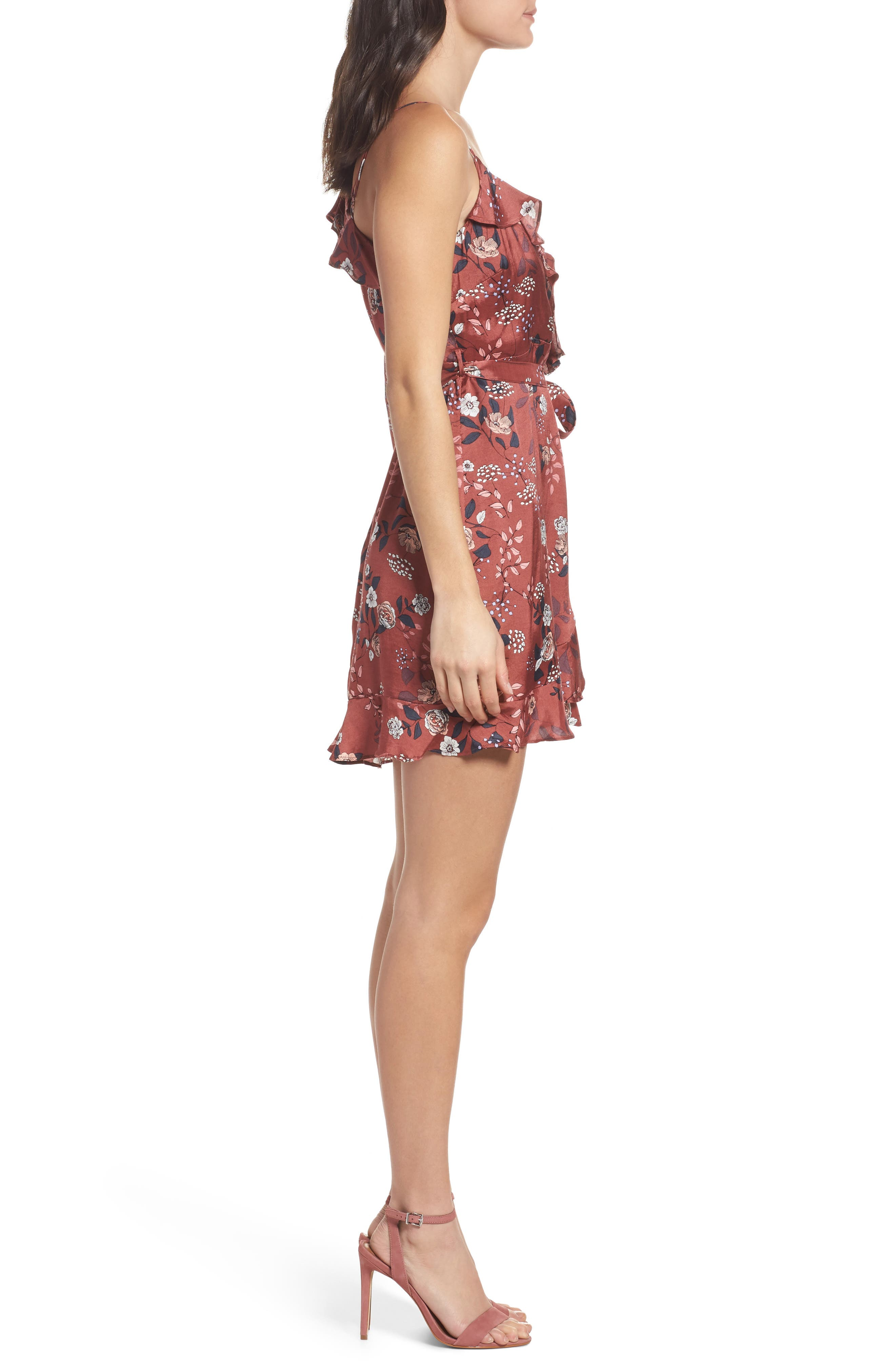 Milly Wrap Dress,                             Alternate thumbnail 3, color,                             223