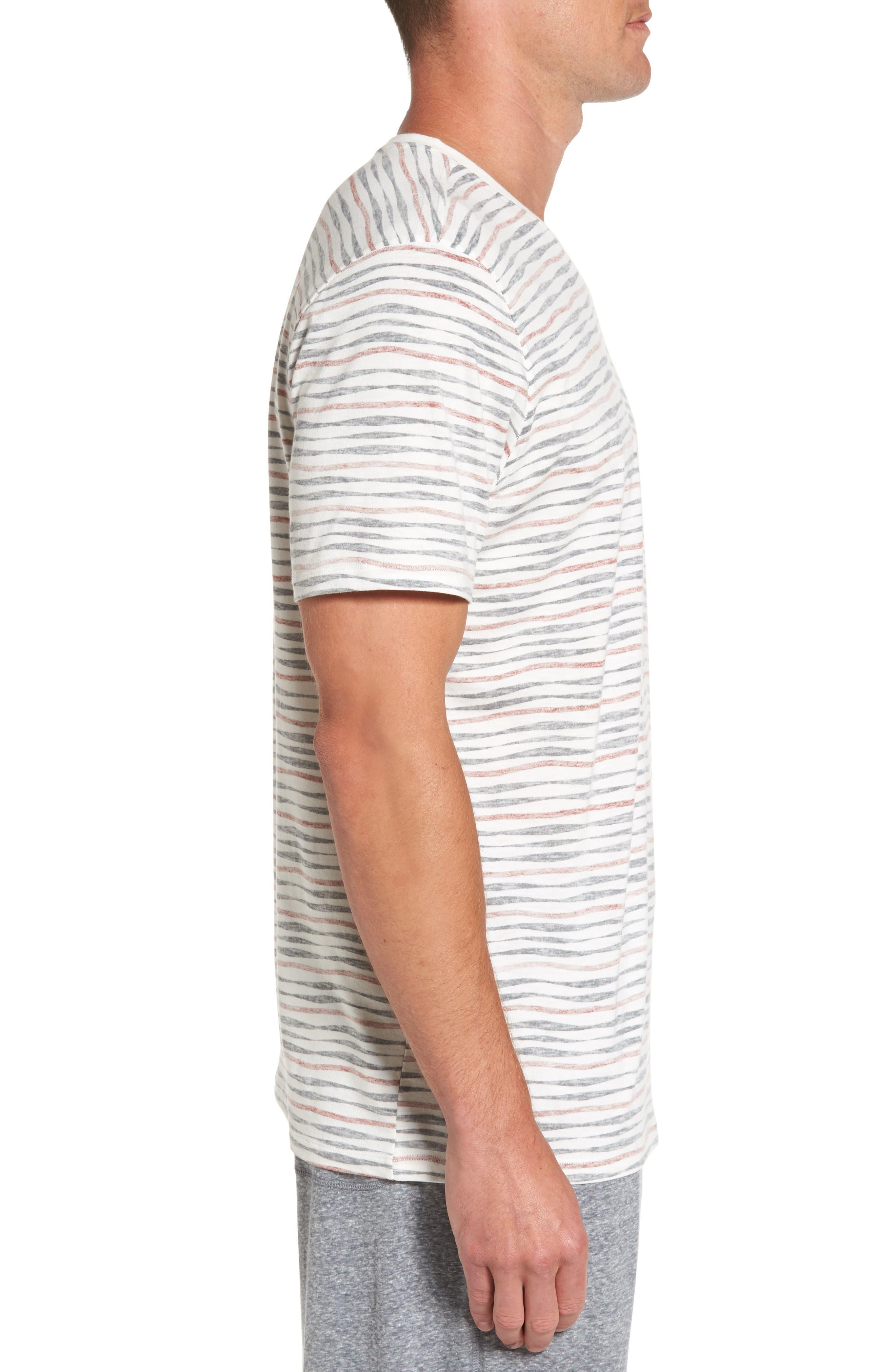V-Neck T-Shirt,                             Alternate thumbnail 3, color,                             633