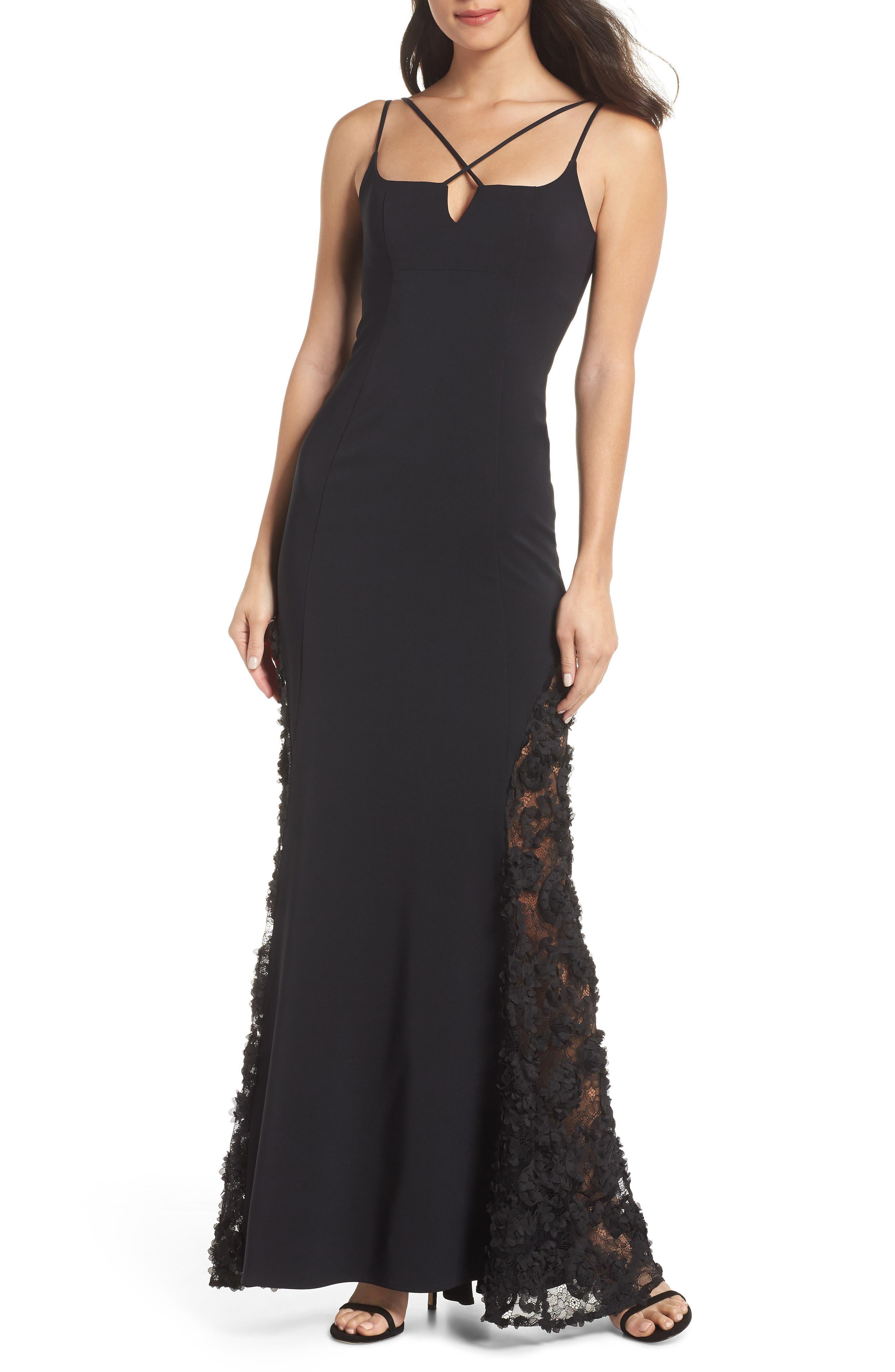 Maria Bianca Nero Mckenna Strappy Gown, Black