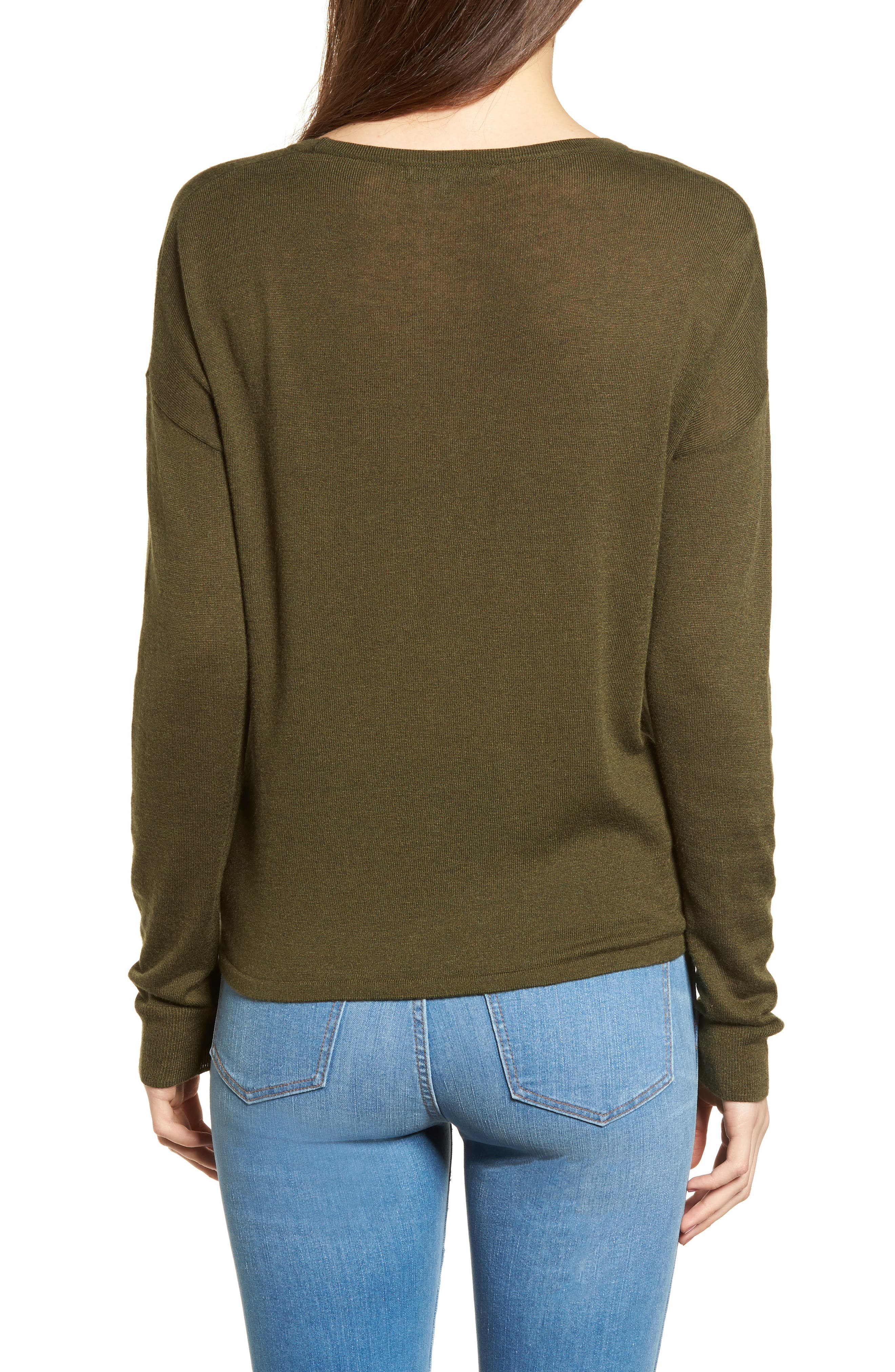 Modern Tie Front Sweater,                             Alternate thumbnail 7, color,