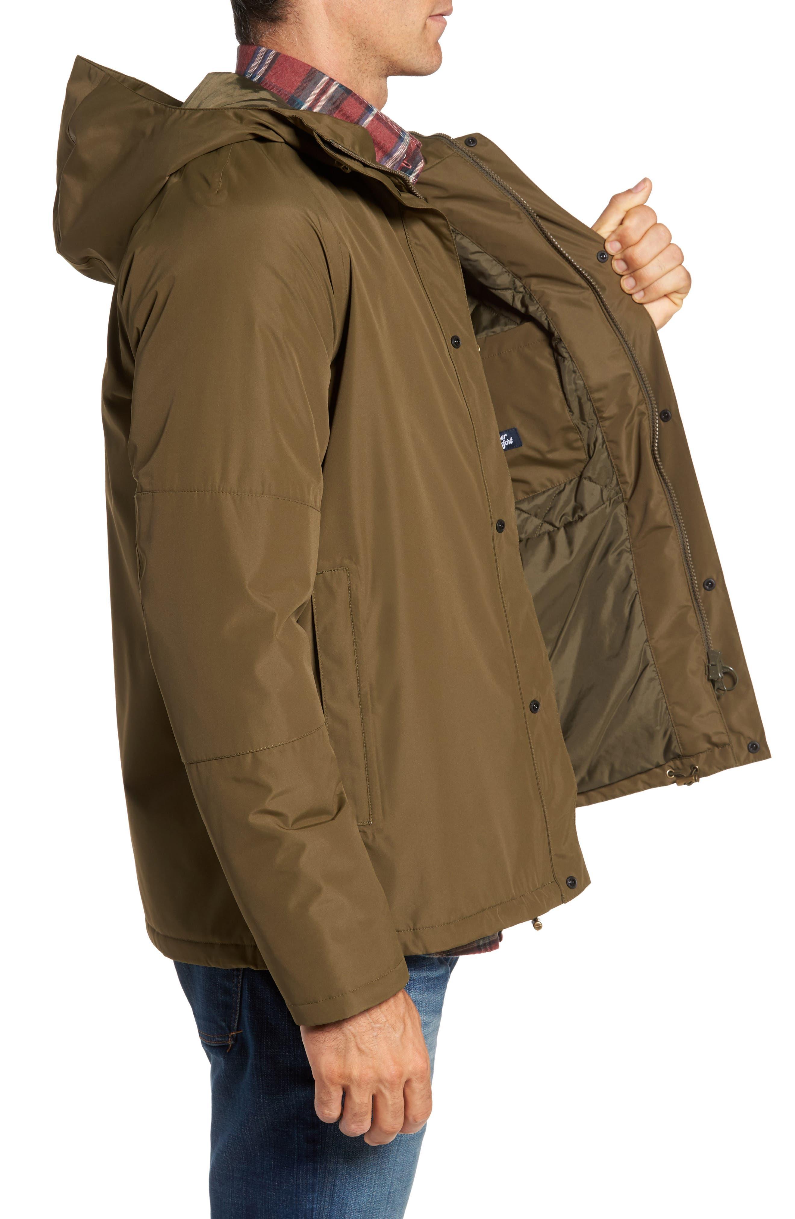 Rydal Waterproof Hooded Jacket,                             Alternate thumbnail 3, color,                             340