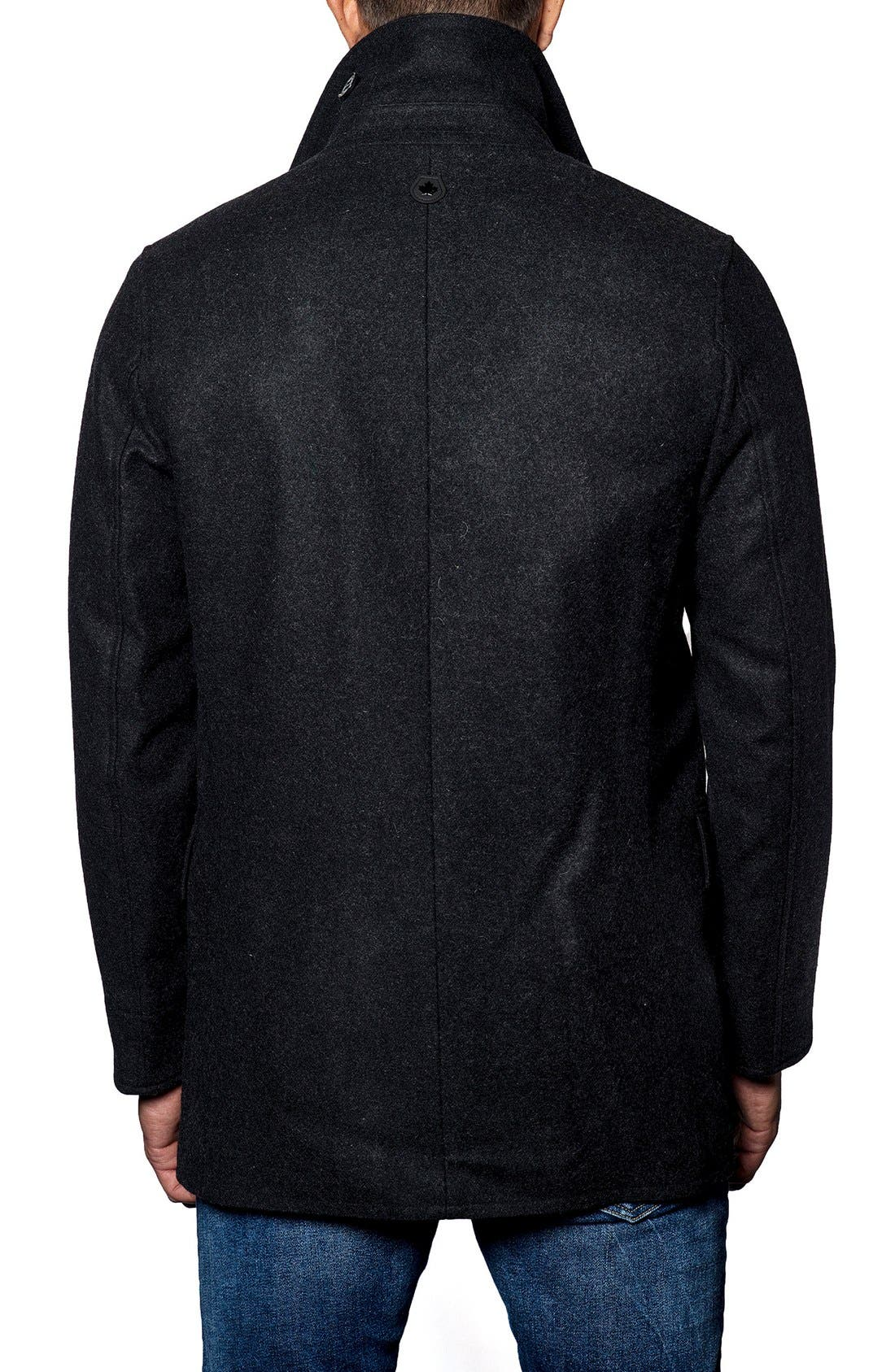 Wool Blend Double Breasted Peacoat,                             Alternate thumbnail 5, color,