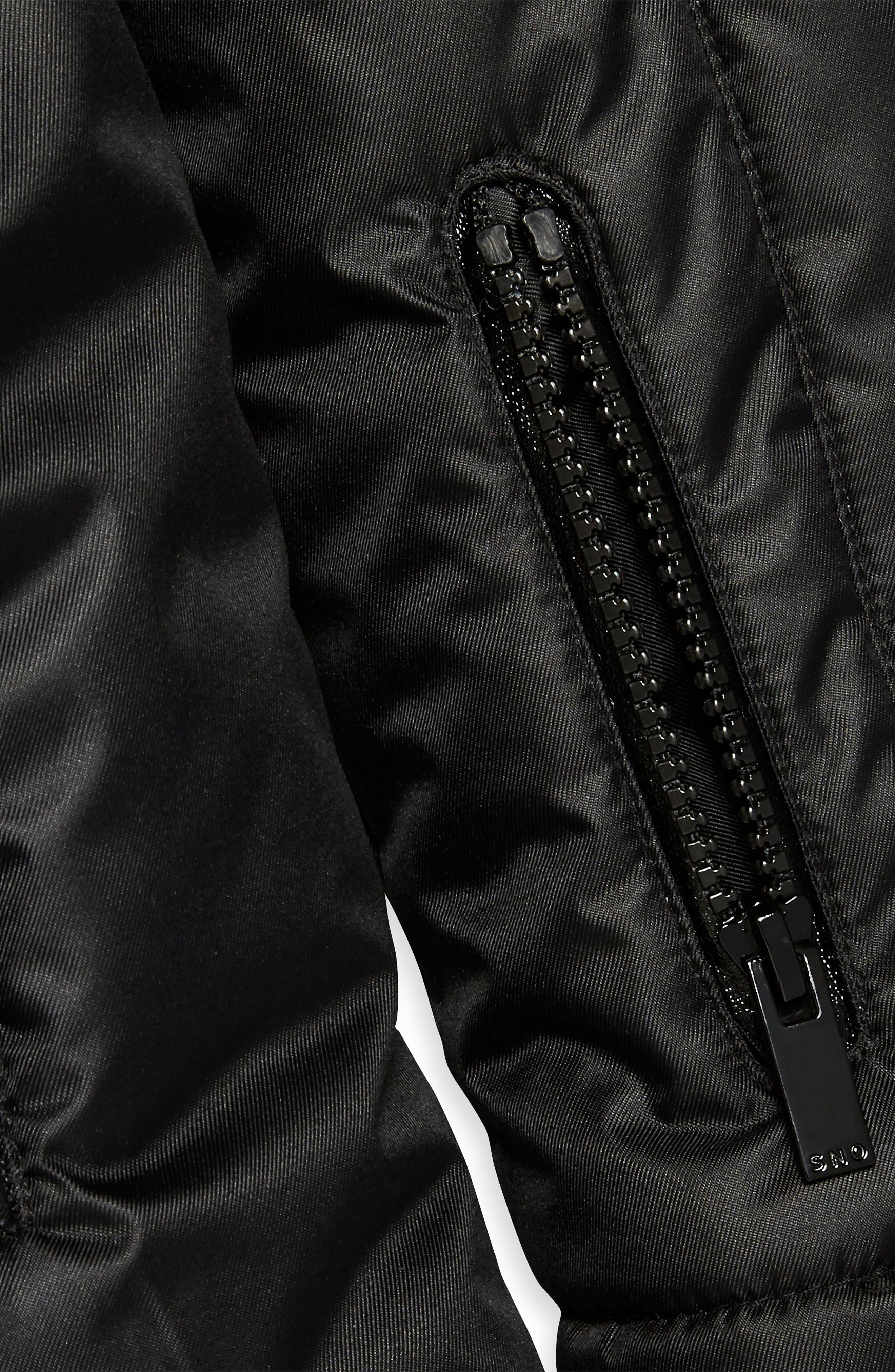 Sno Baby Ski Jacket,                             Alternate thumbnail 5, color,                             BLACK
