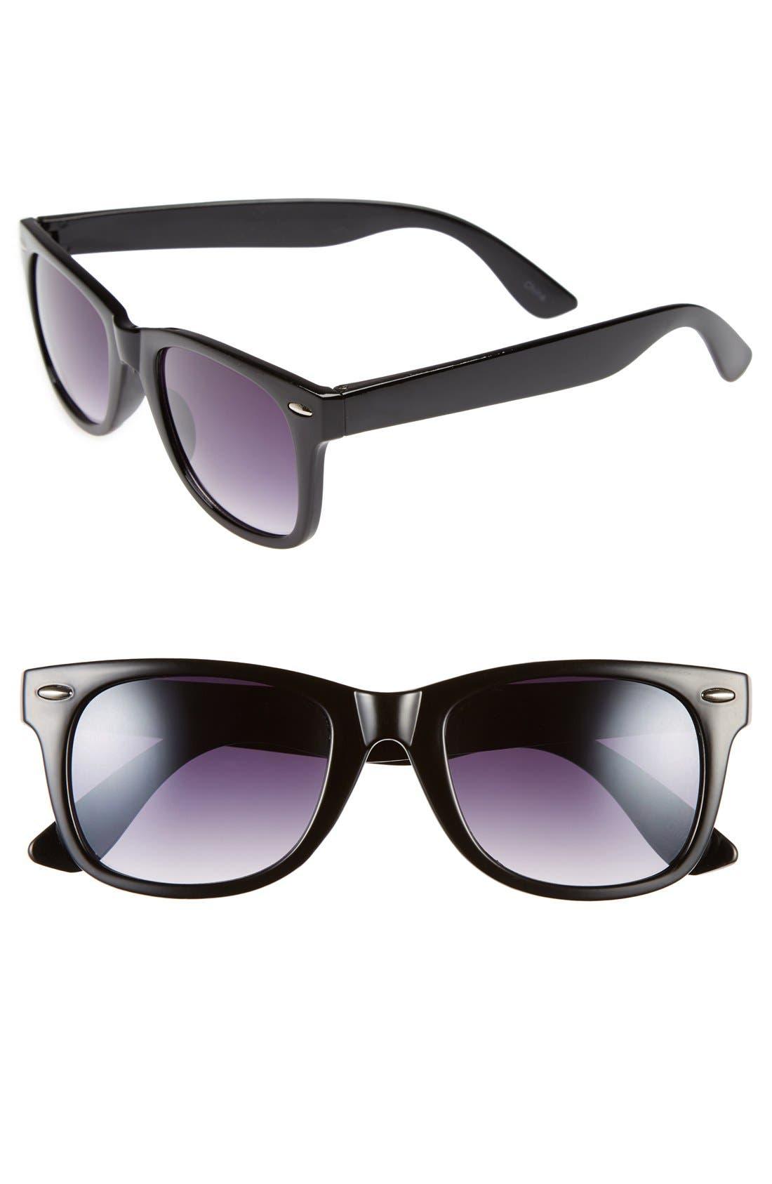 'Skater' 52mm Sunglasses,                             Main thumbnail 1, color,                             001