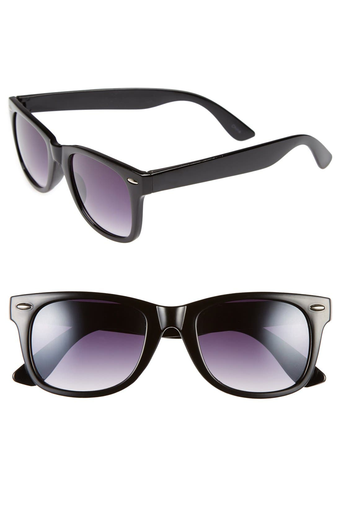 'Skater' 52mm Sunglasses,                         Main,                         color, 001