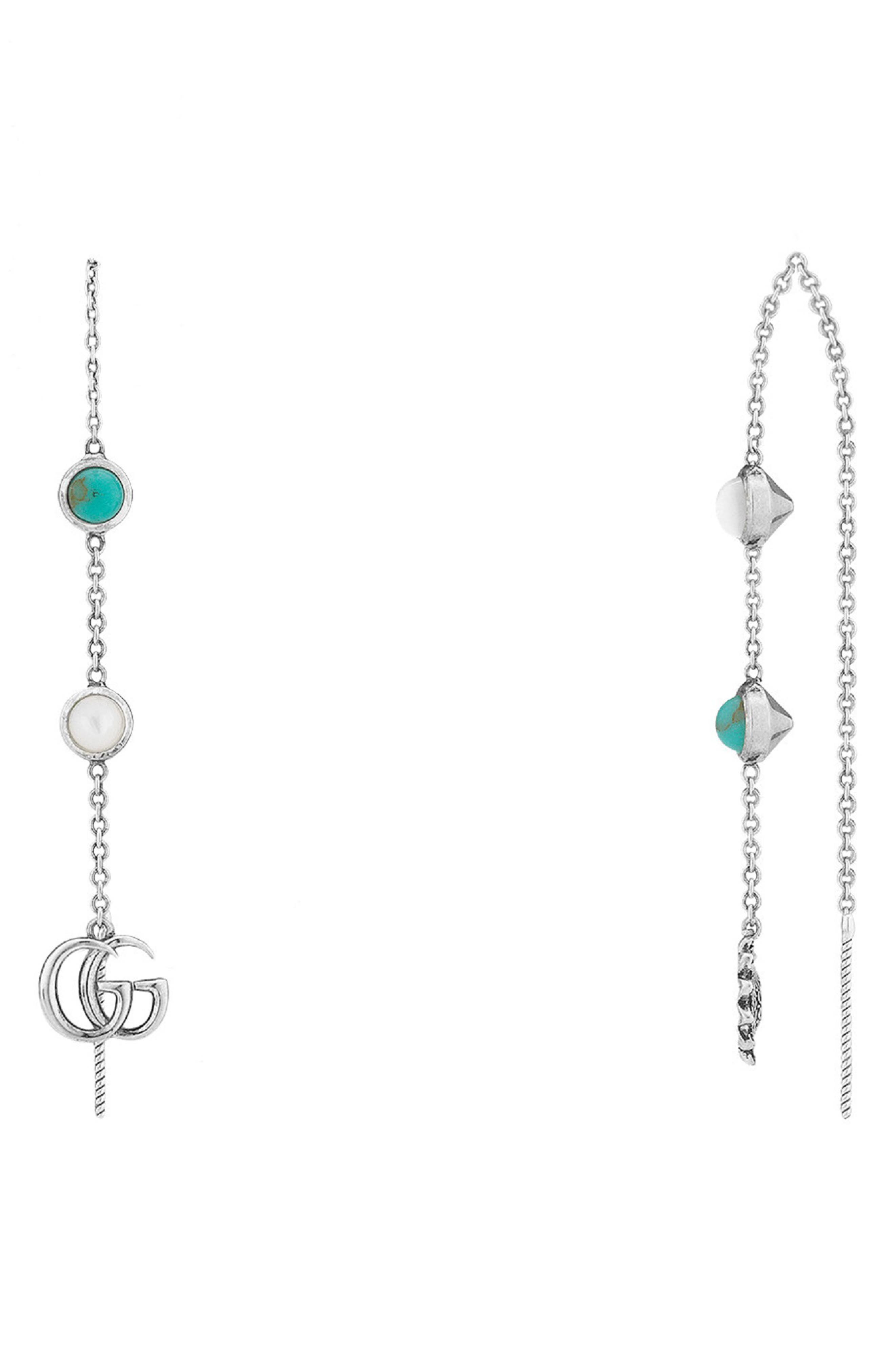 GG Marmont Threader Earrings, Main, color, 040
