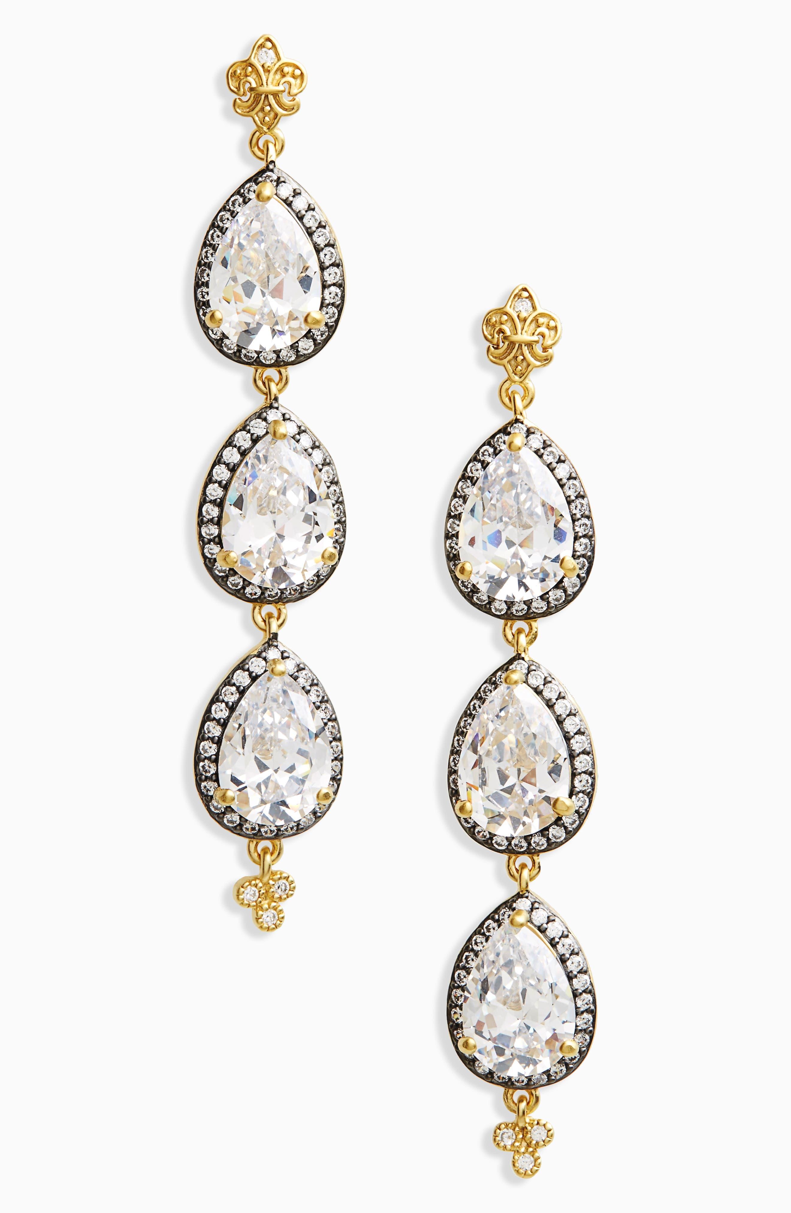 'Femme' Linear Earrings,                             Main thumbnail 1, color,                             710