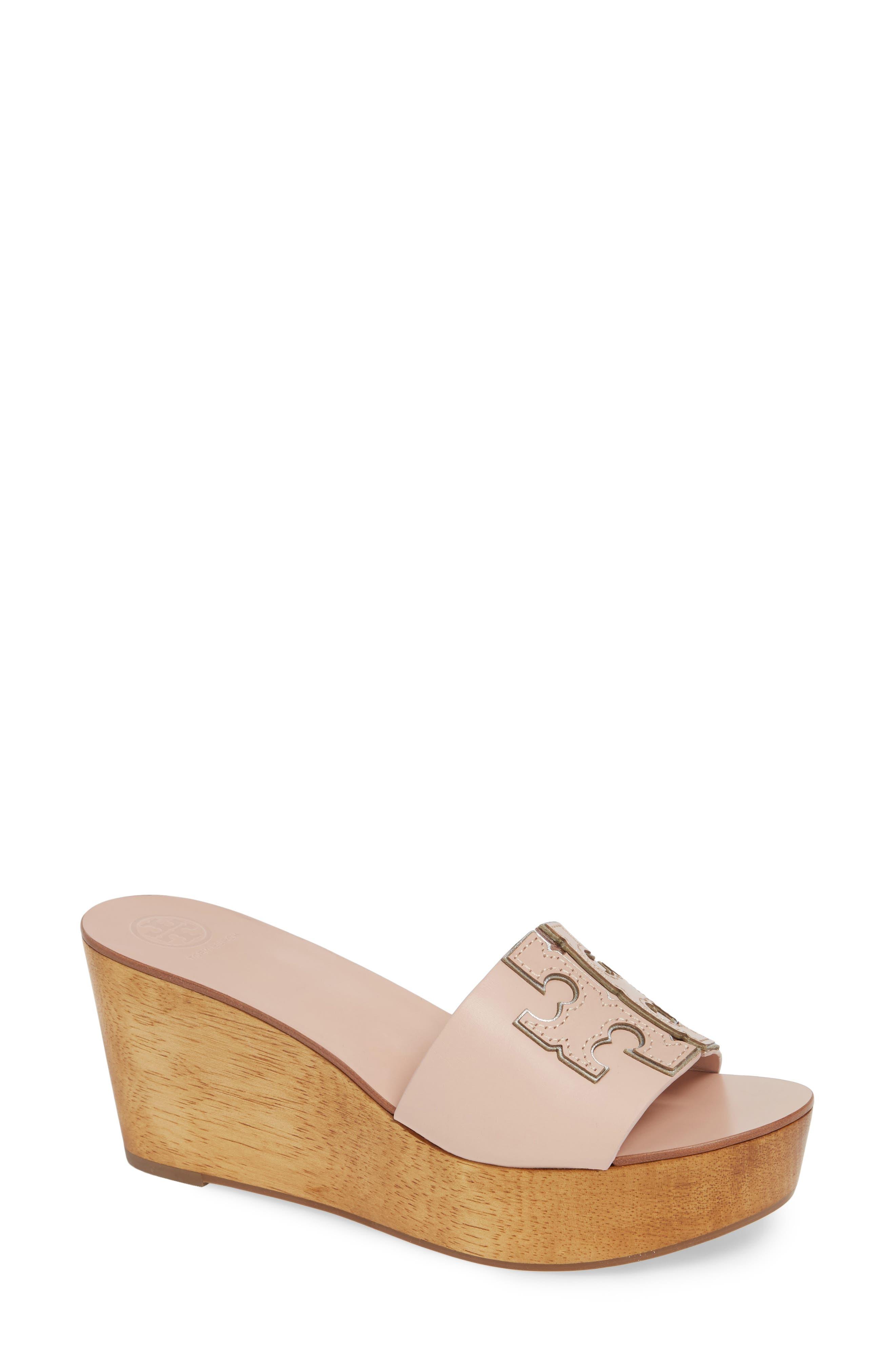 Tory Burch Ines Wedge Slide Sandal- Pink