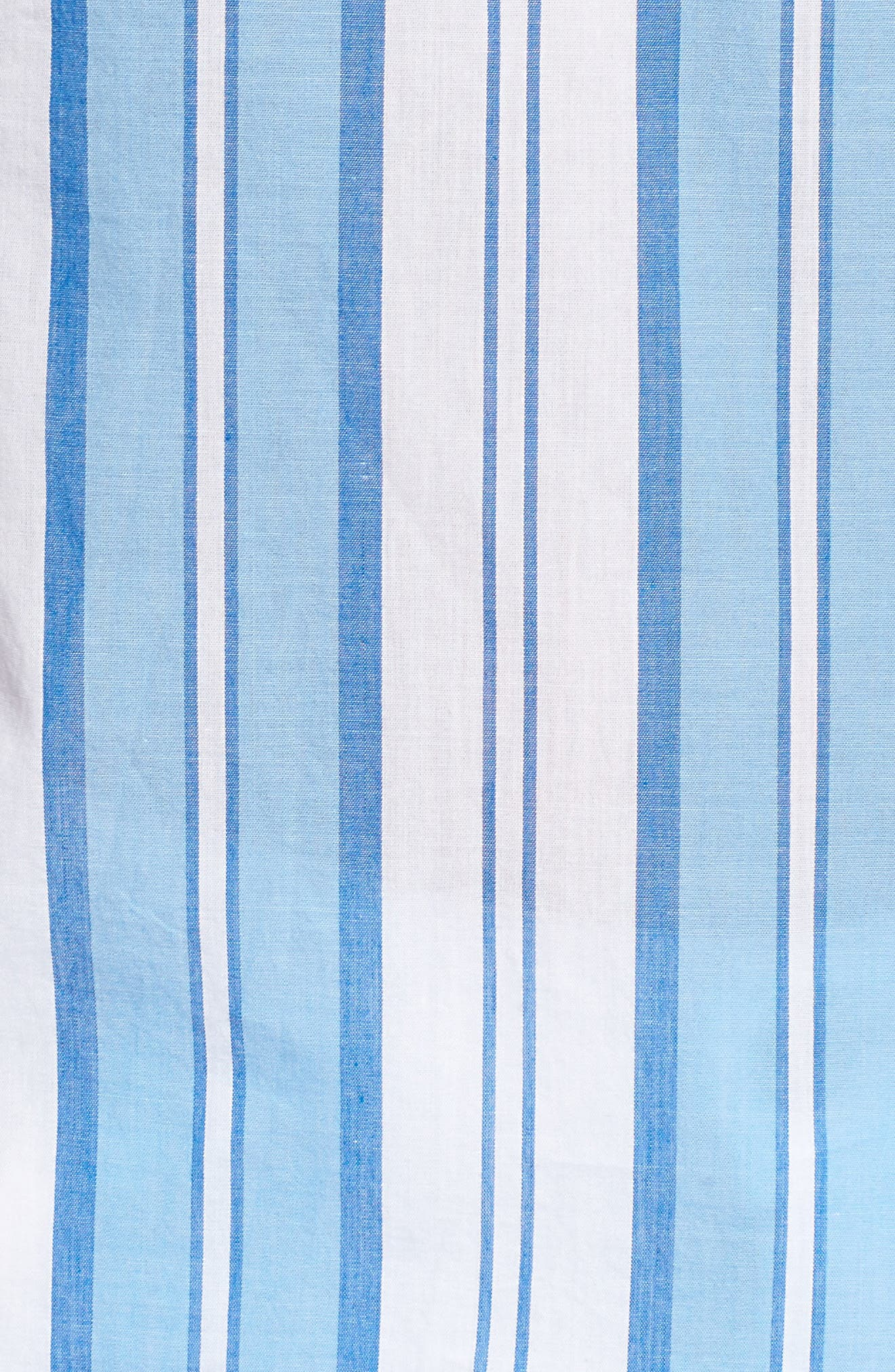 Ocean Stripe Cap Sleeve Popover Top,                             Alternate thumbnail 5, color,                             468