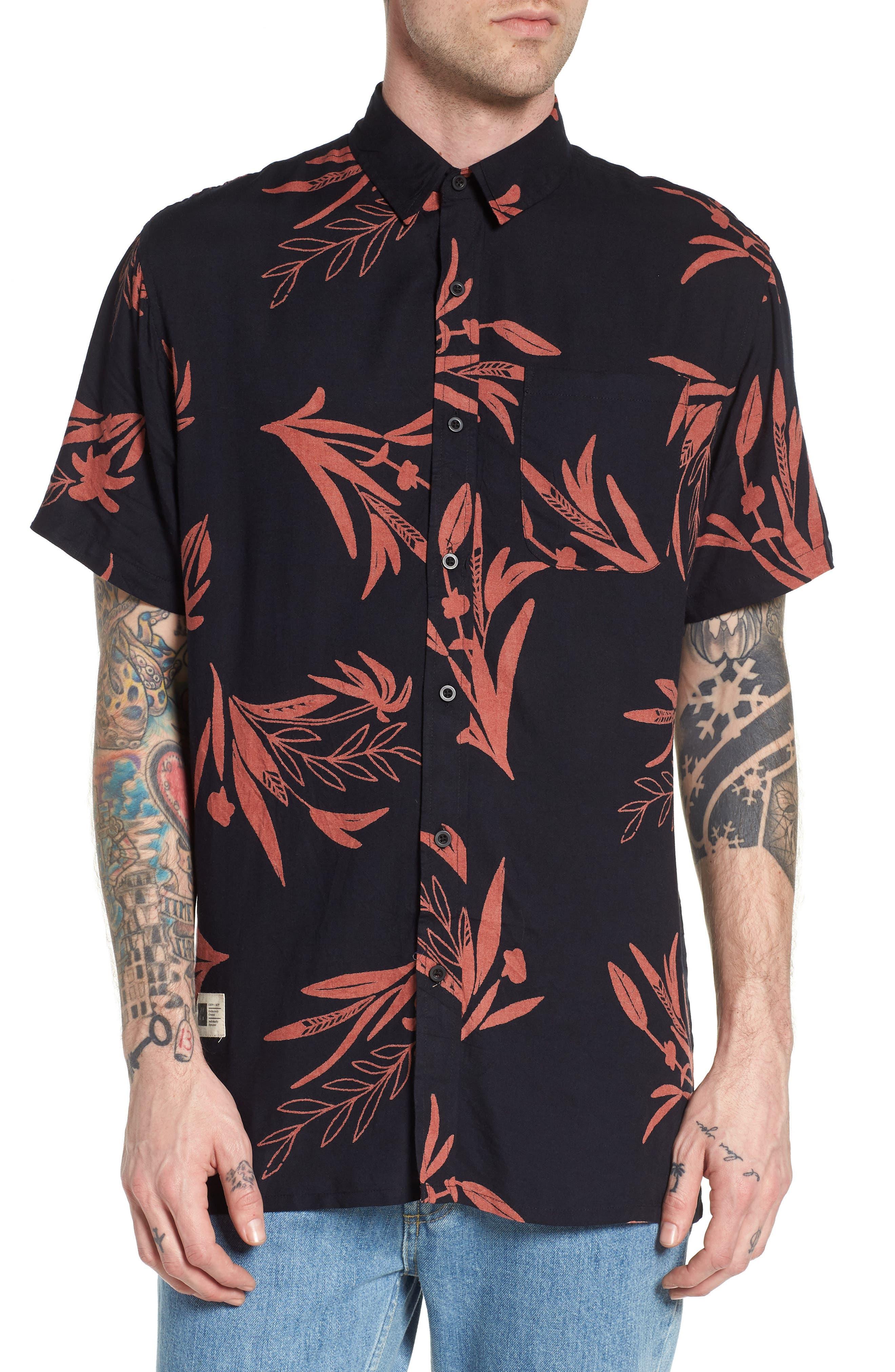 Simmer Short Sleeve Shirt,                             Main thumbnail 1, color,                             001