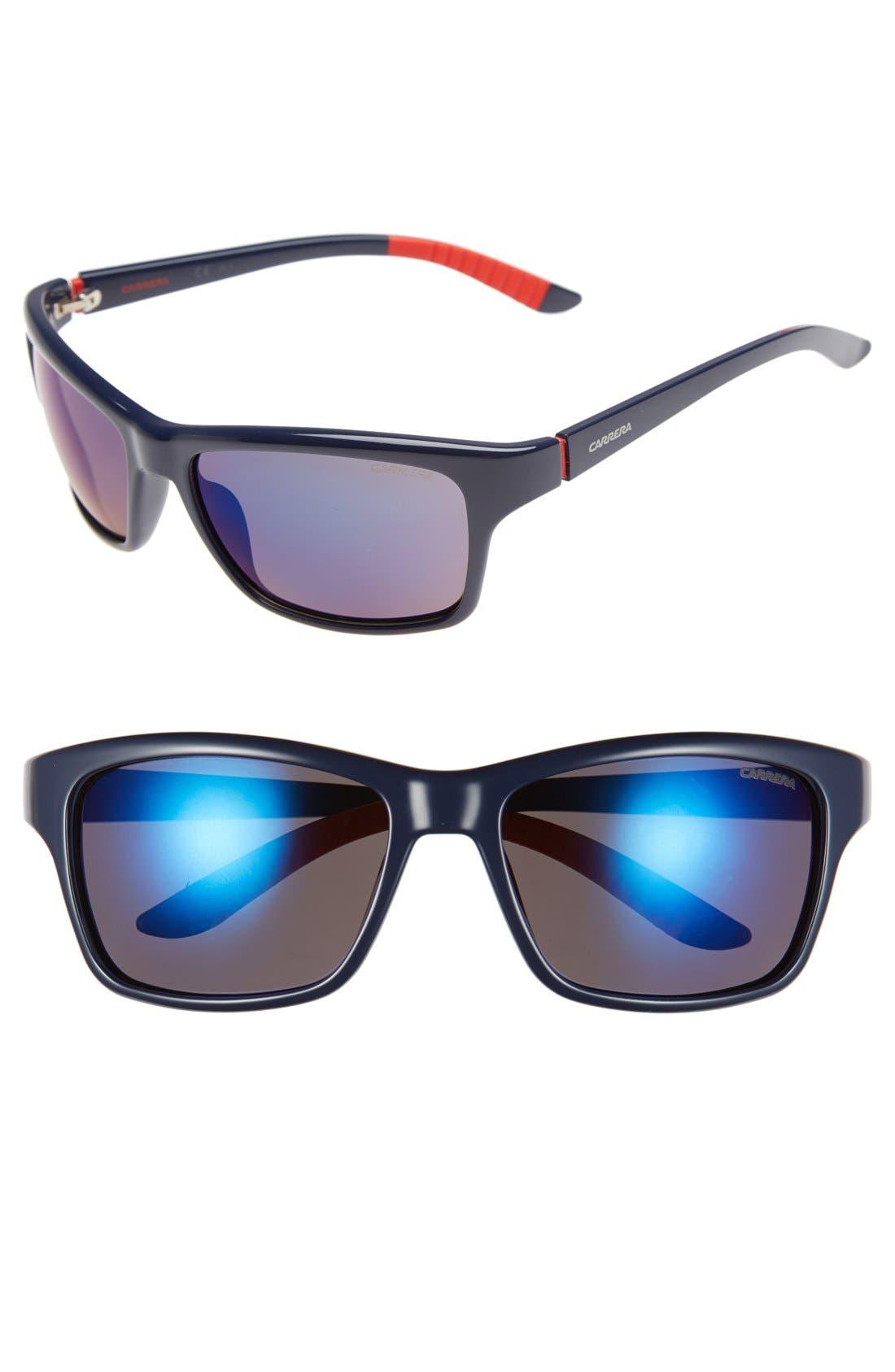 58mm Polarized Sunglasses,                         Main,                         color, 400