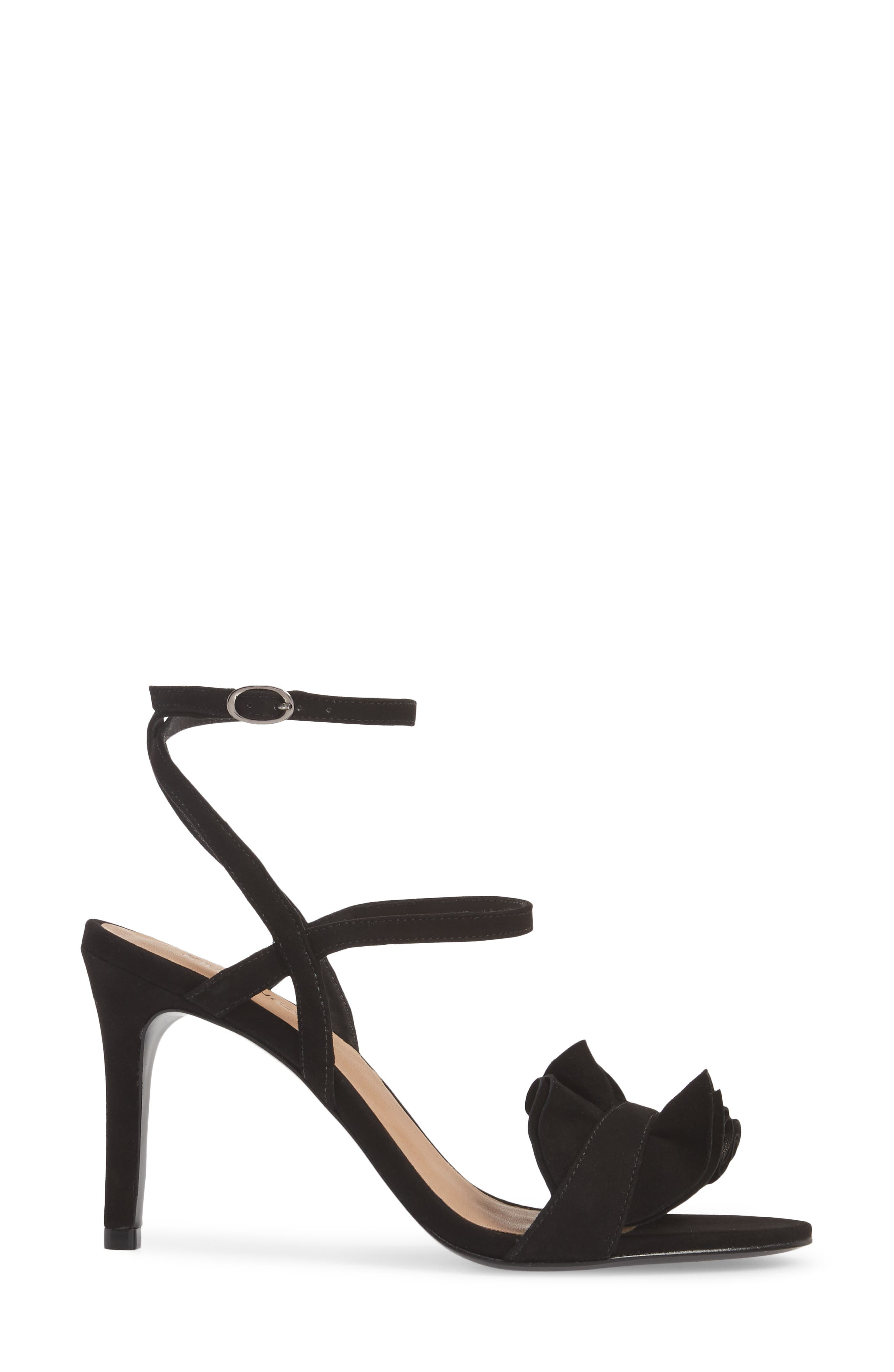Ansley Sandal,                             Alternate thumbnail 3, color,                             BLACK SUEDE