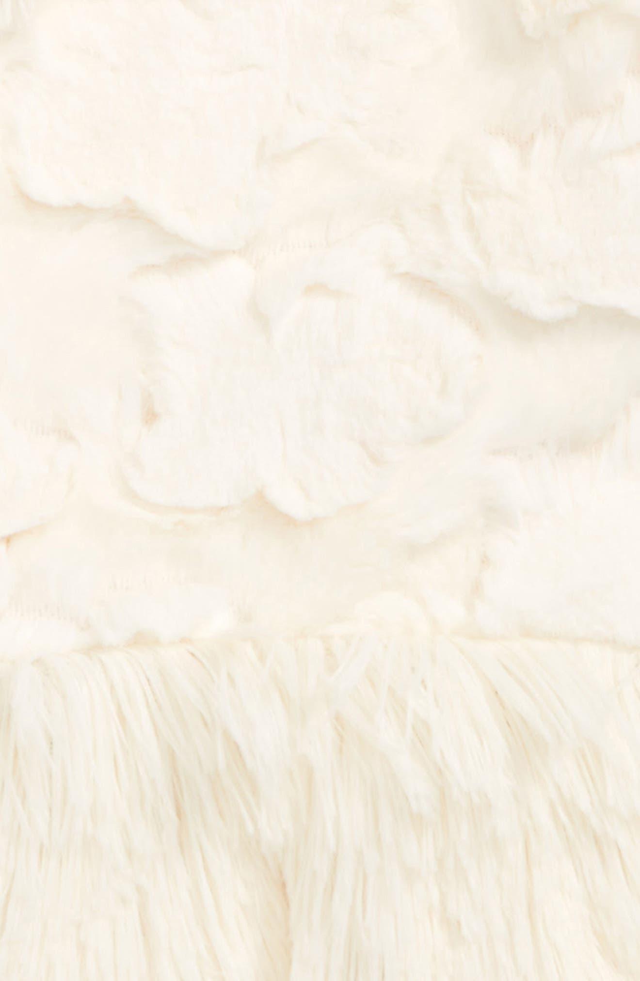 Faux Fur Peplum Vest,                             Alternate thumbnail 2, color,                             901