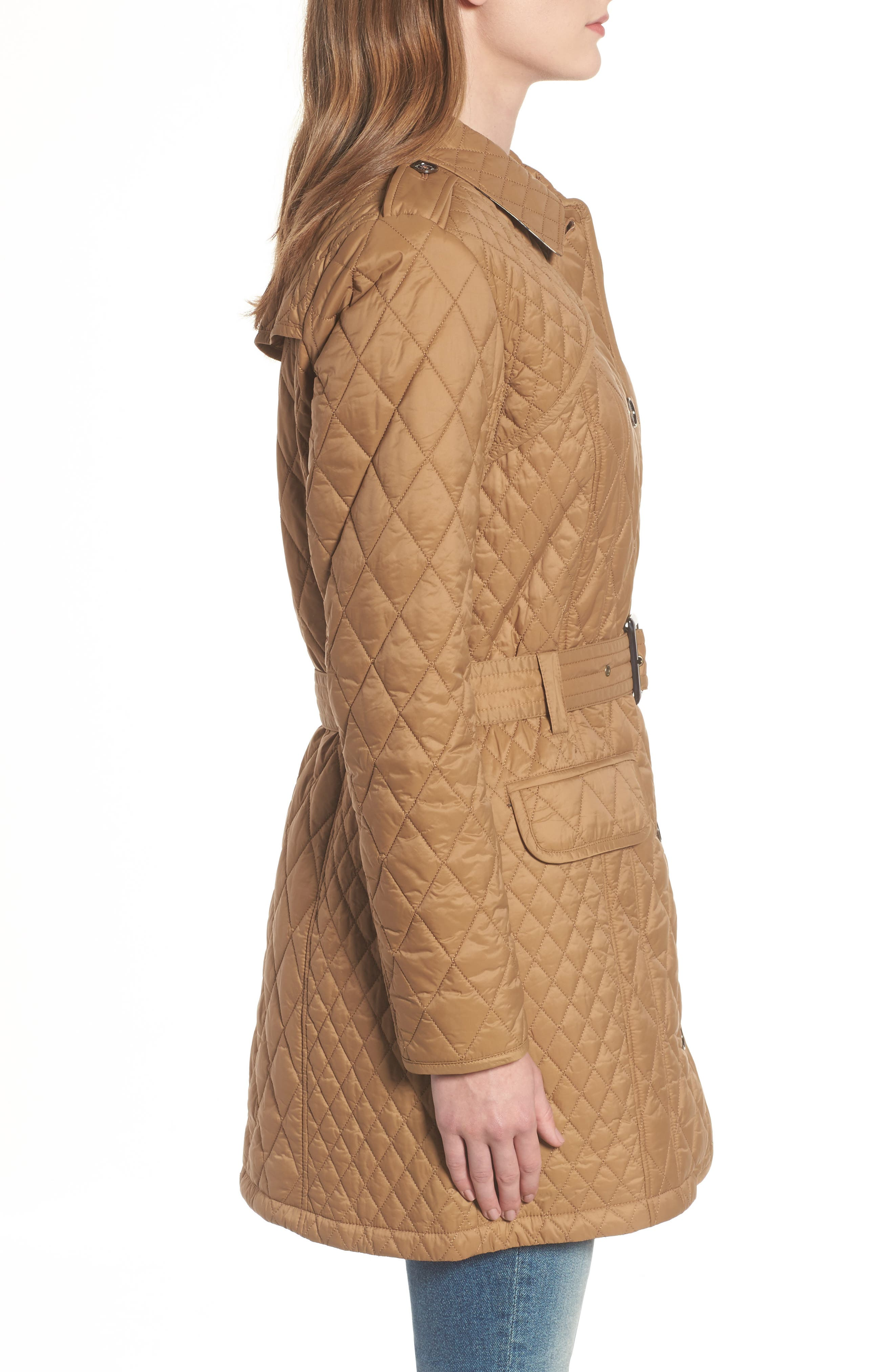 Hailes Quilted Trench Jacket,                             Alternate thumbnail 3, color,                             260